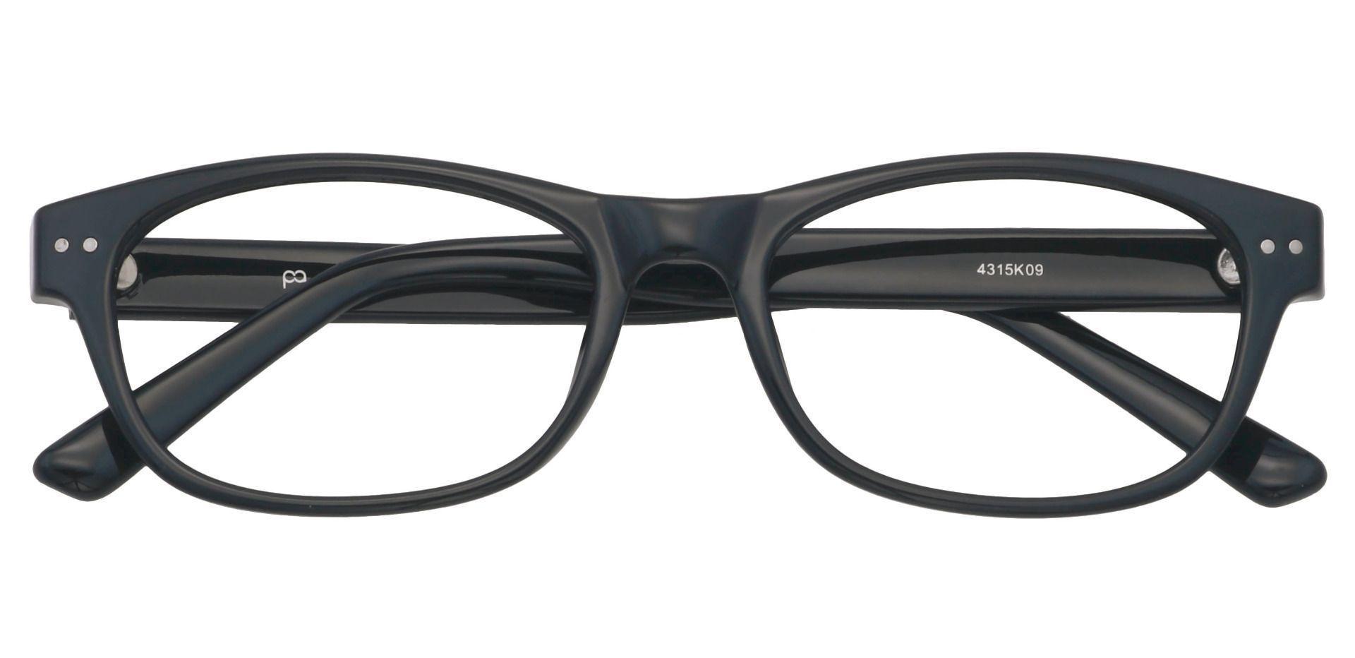 Gulf Rectangle Reading Glasses - Shiny Black