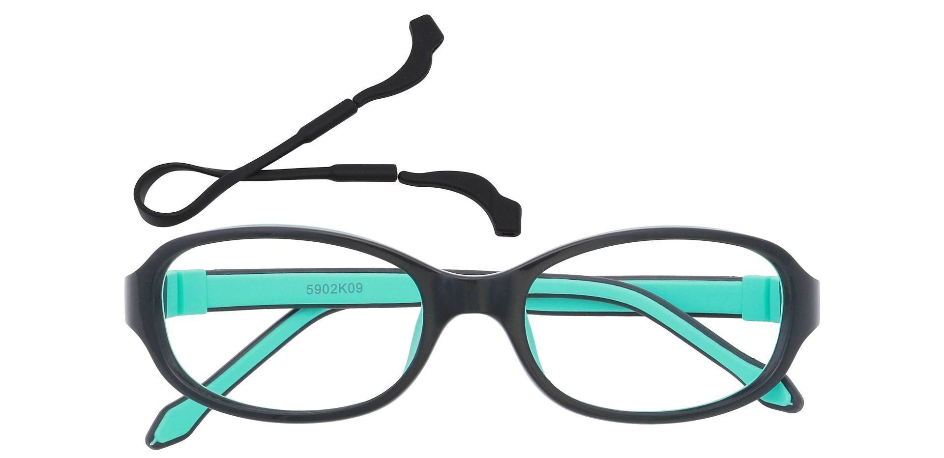 Toucan Rectangle Prescription Glasses - The Frame Is Black With Green