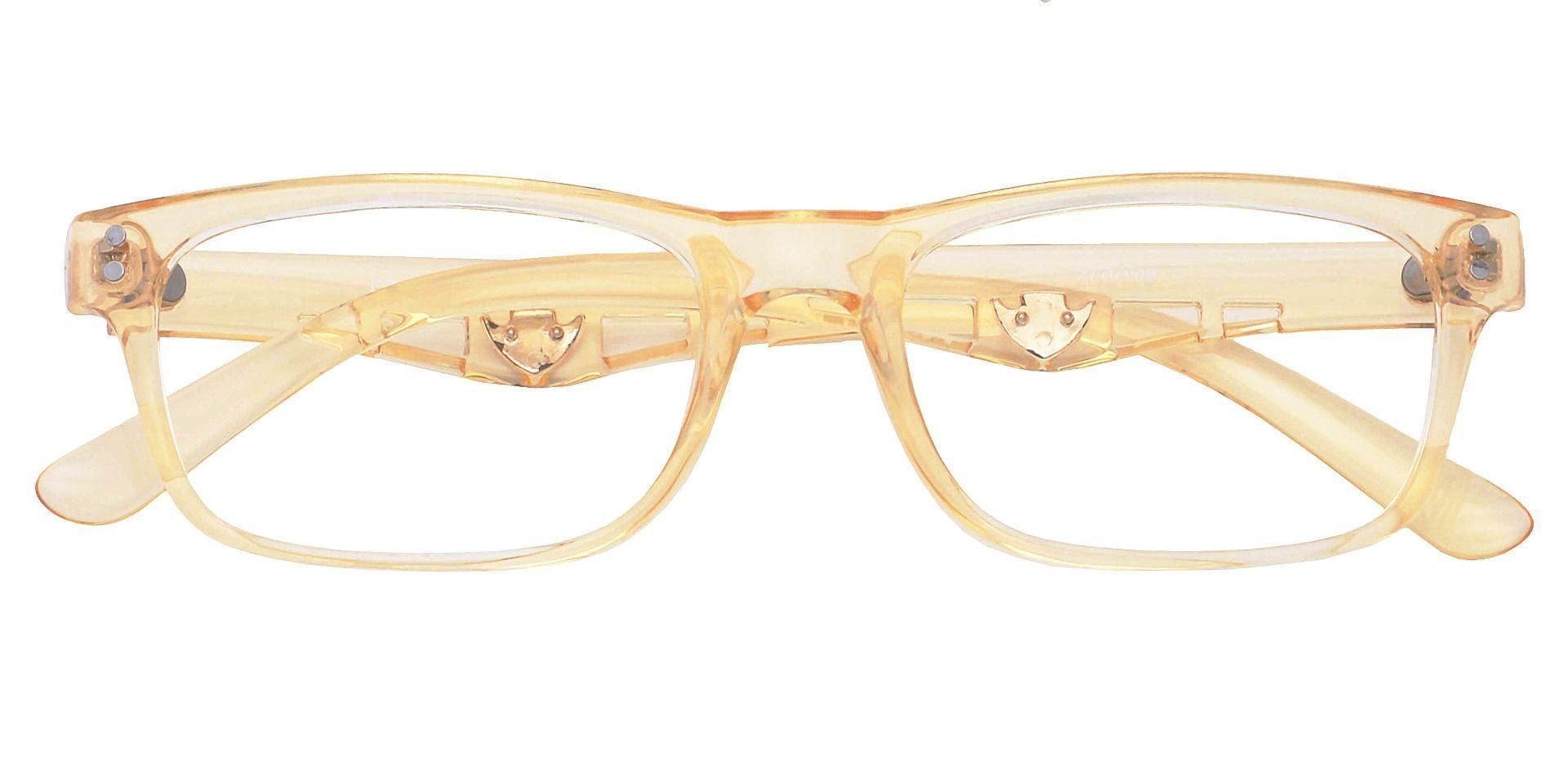 Aura Rectangle Eyeglasses Frame - Yellow