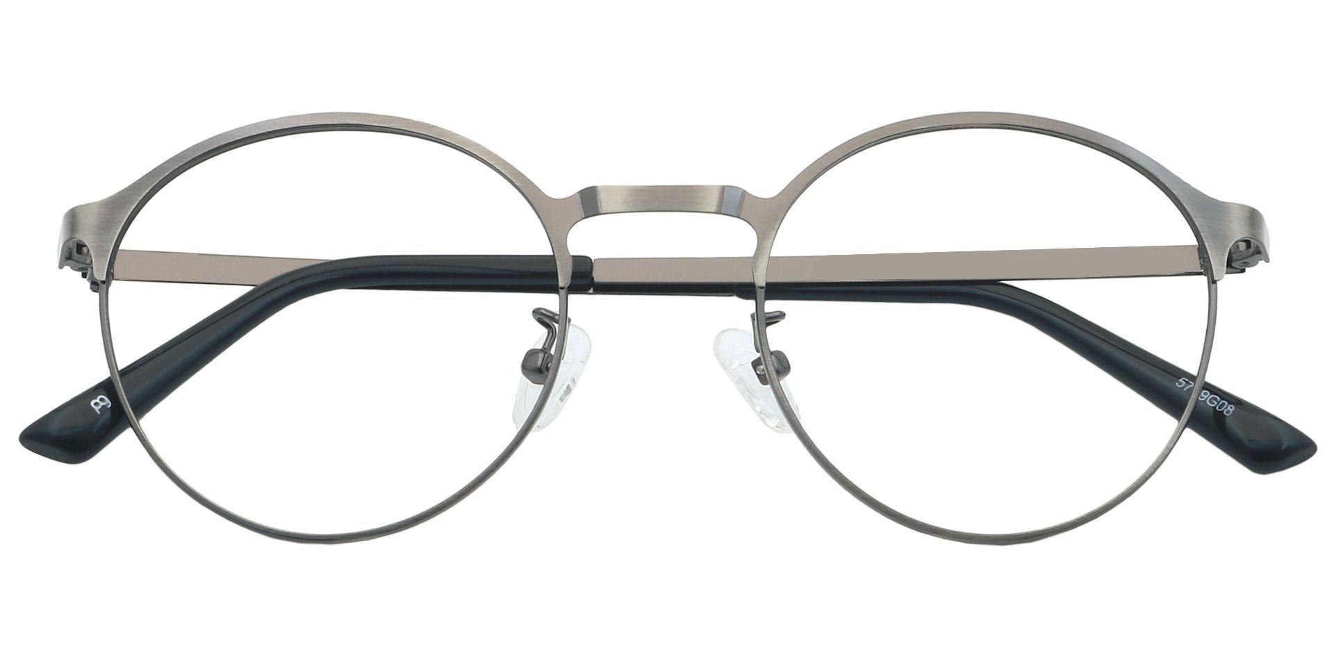 Perry Round Non-Rx Glasses - Gray