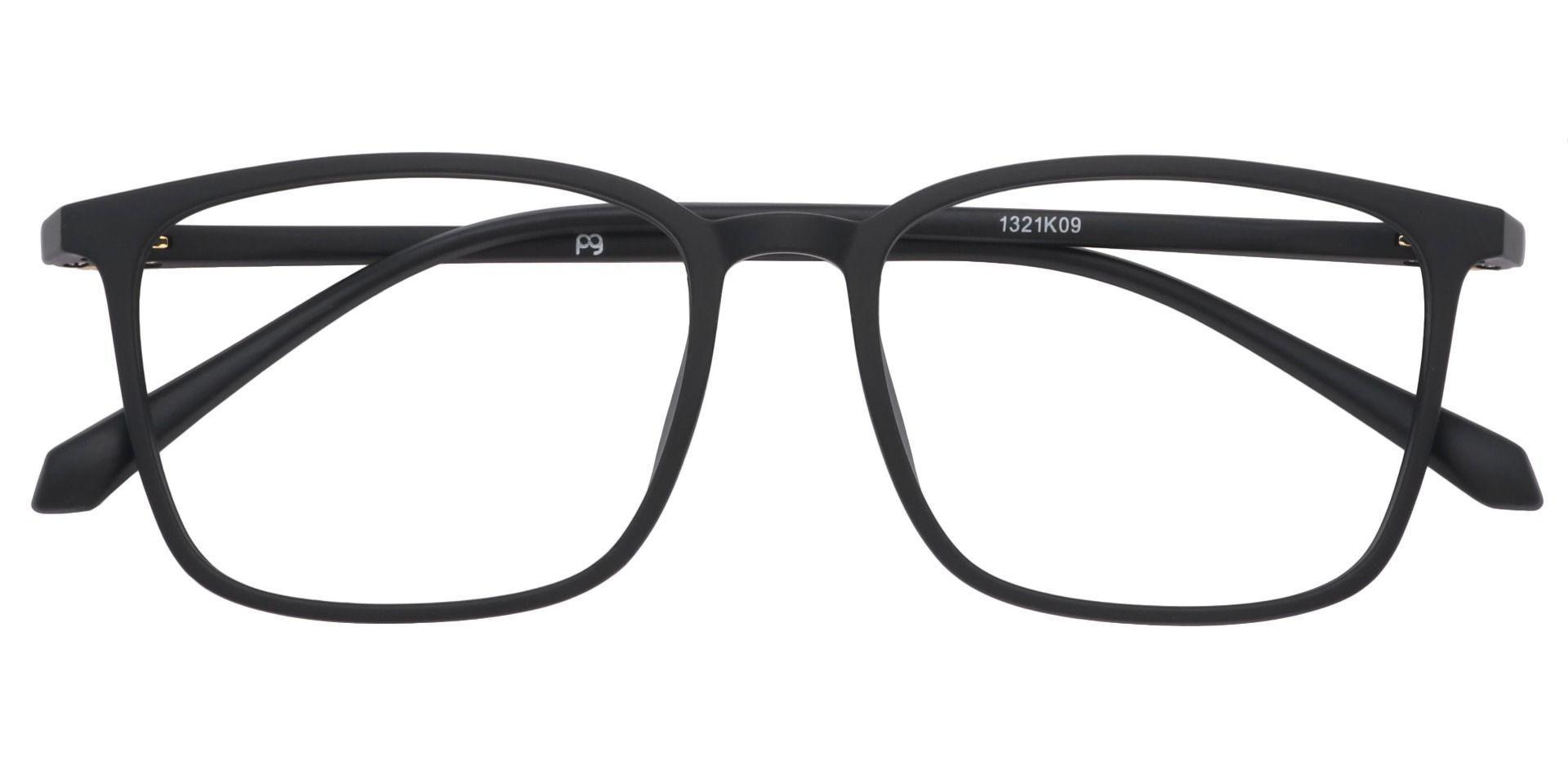 Hayworth Rectangle Progressive Glasses - Black