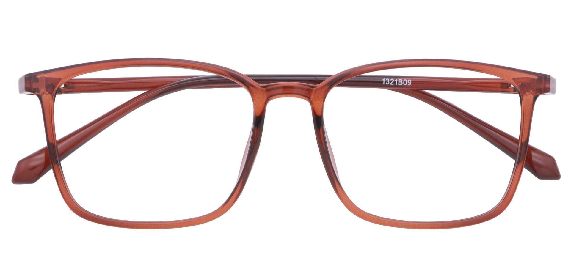 Hayworth Rectangle Eyeglasses Frame - Brown