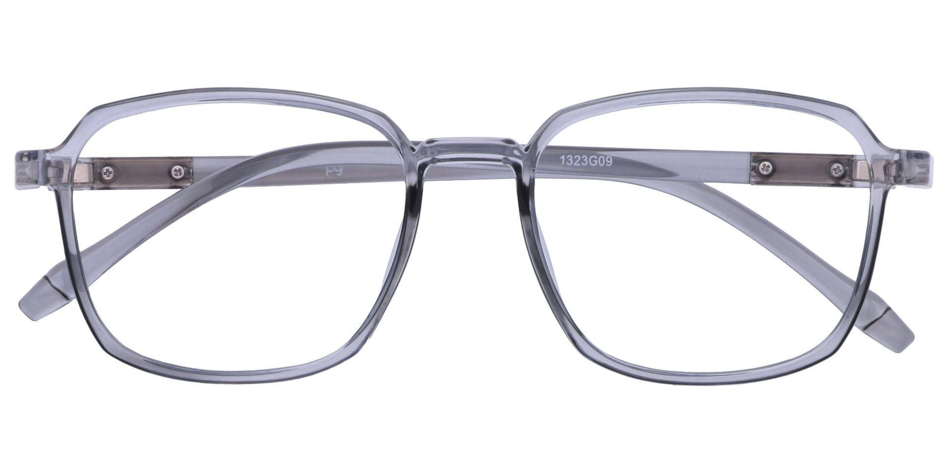 Stella Square Blue Light Blocking Glasses - Gray