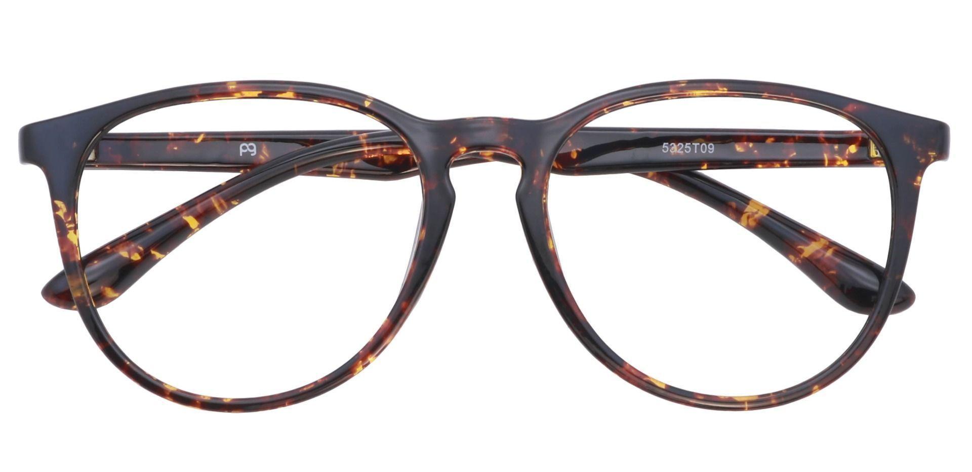 Maple Oversized Oval Prescription Glasses - Tortoiseshell