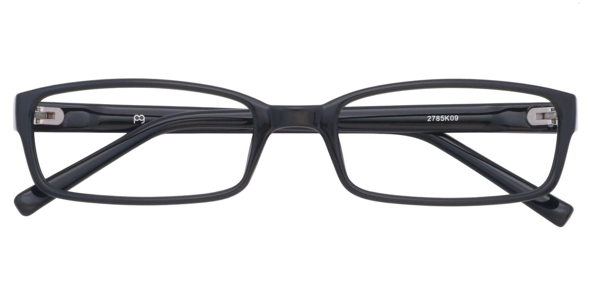 Sanford Rectangle Single Vision Glasses - Black