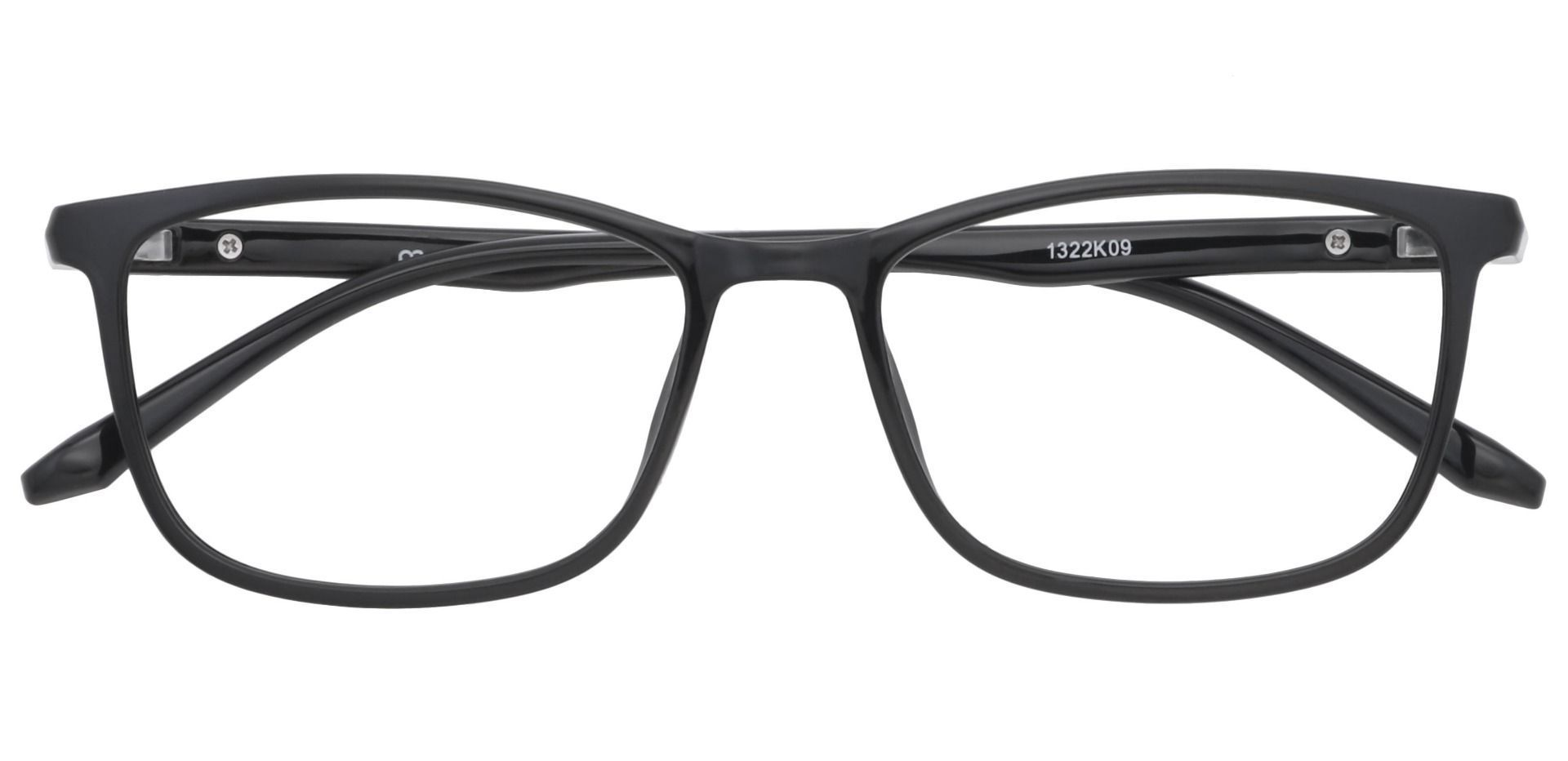 Harvest Rectangle Non-Rx Glasses - Black