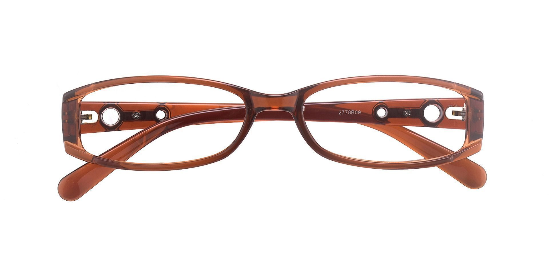 Felice Rectangle Single Vision Glasses - Brown
