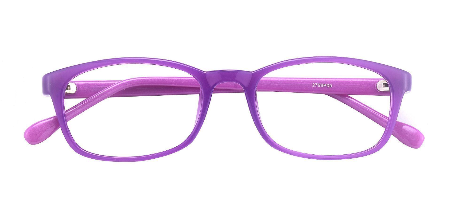 Violet Rectangle Prescription Glasses - Purple
