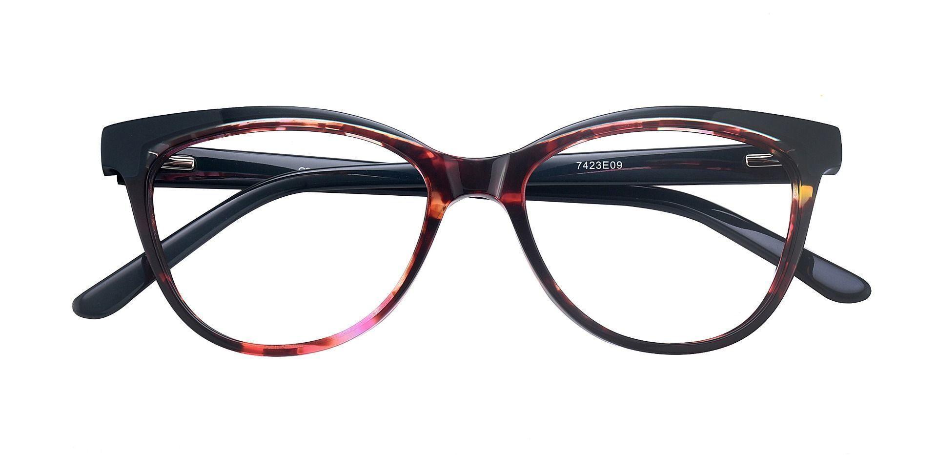 Fleck Cat-Eye Blue Light Blocking Glasses - Floral