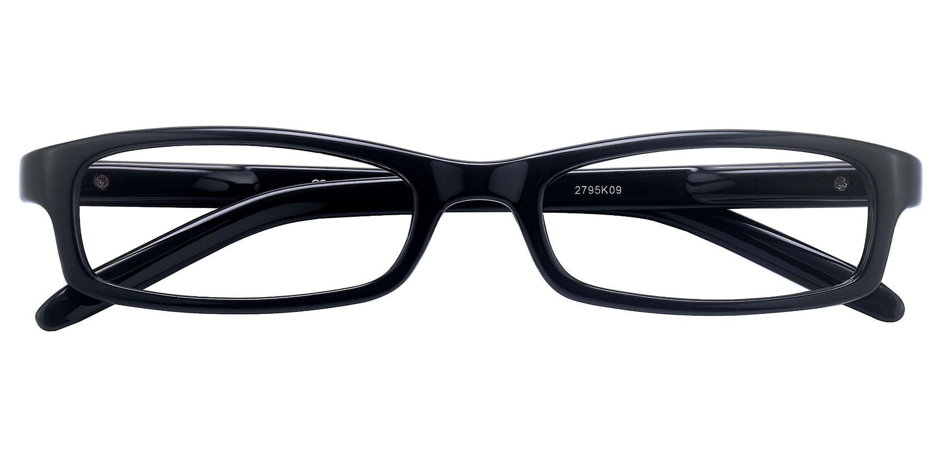 Palmer Rectangle Single Vision Glasses - Black