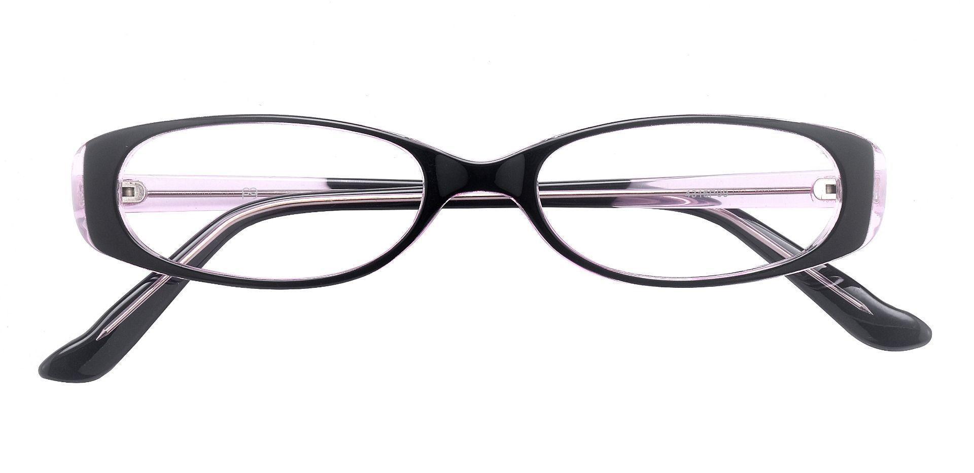 Venetia Oval Single Vision Glasses - Black Purple Crystal