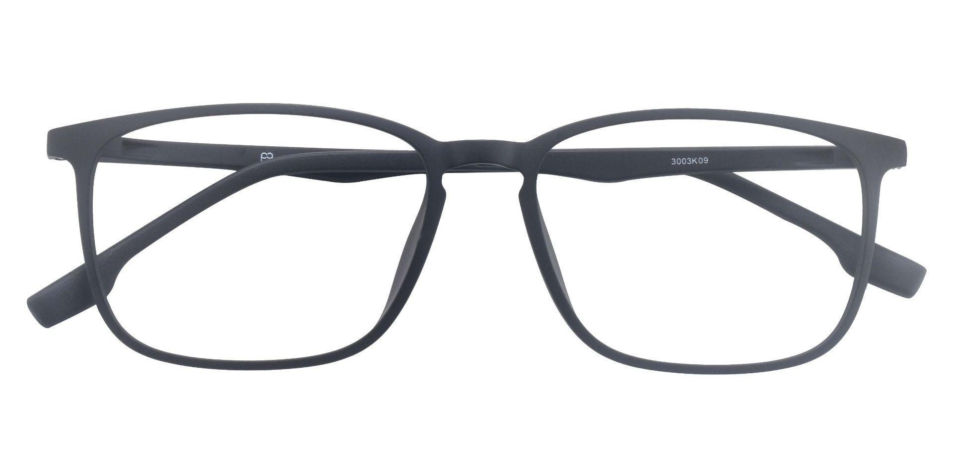Denver Square Progressive Glasses -  Matte Black