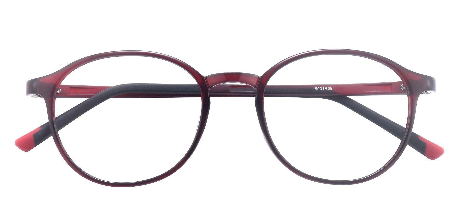Agave Oval Blue Light Blocking Glasses - Mahogany