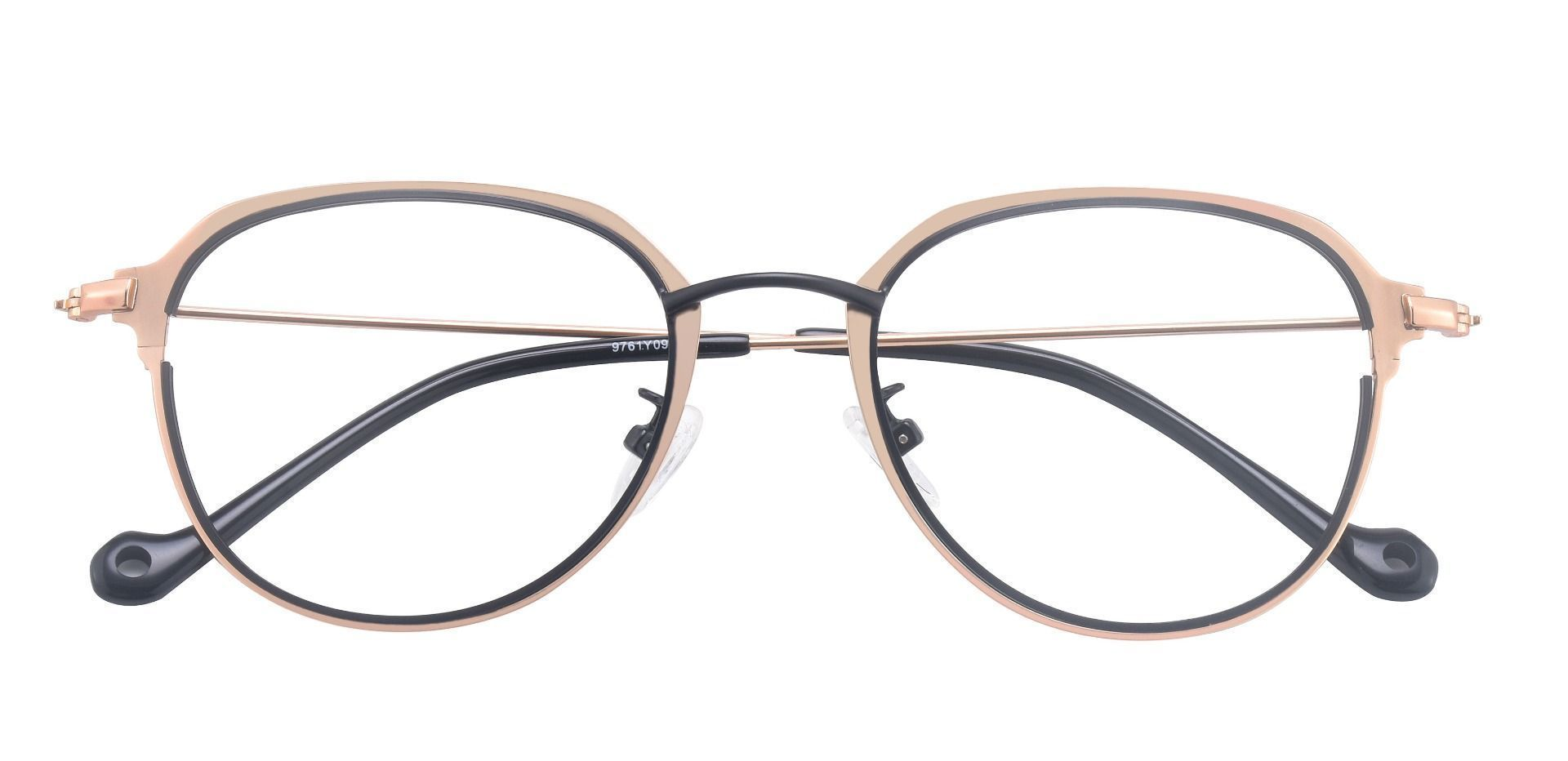 Murray Geometric Blue Light Blocking Glasses - Gold
