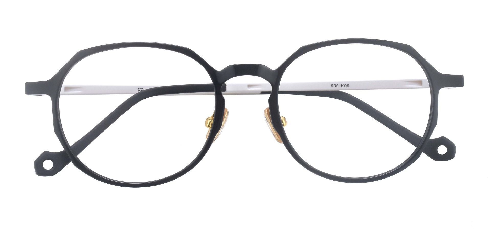 Everly Geometric Prescription Glasses - The Frame Is Black And White