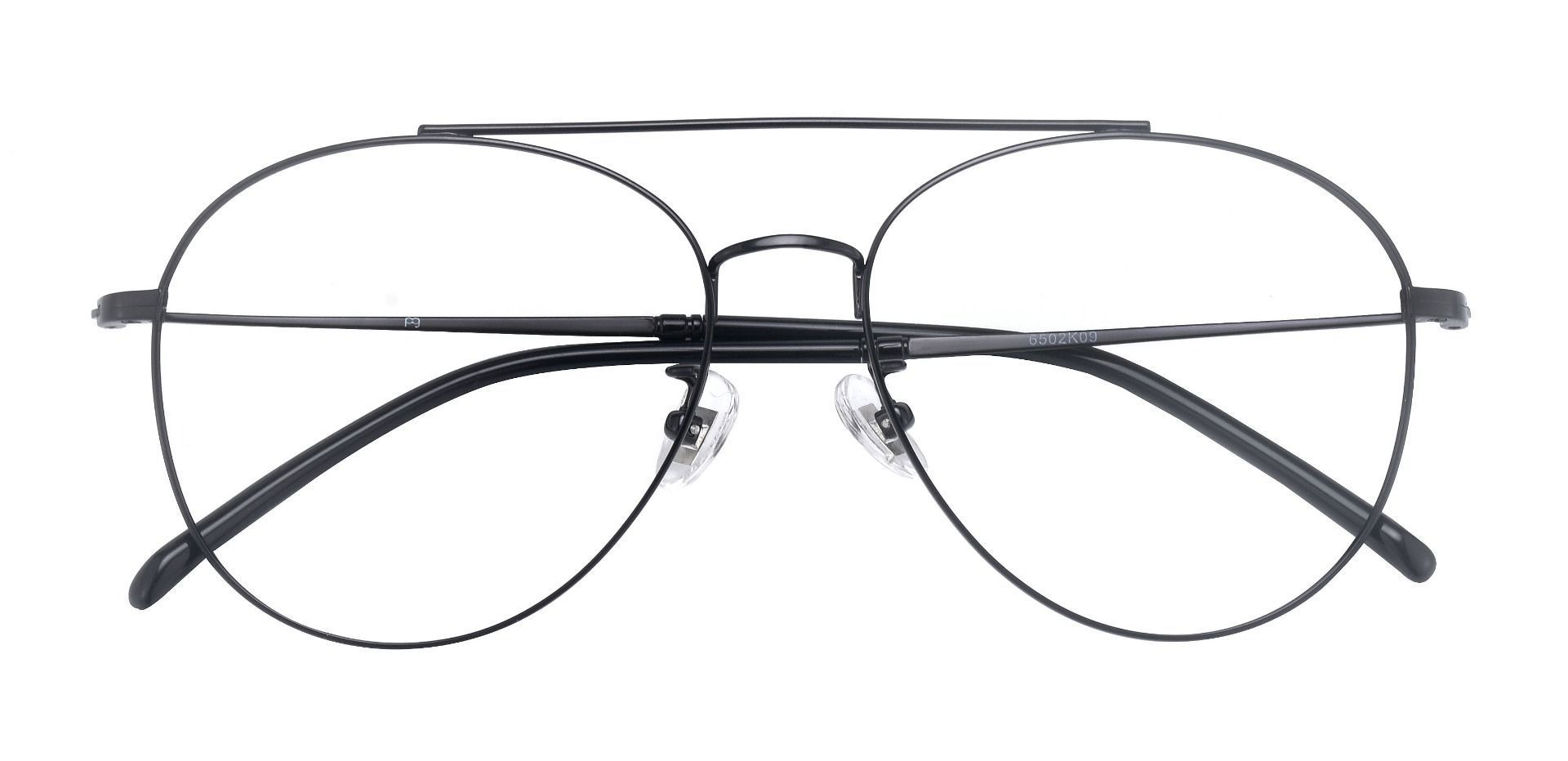 Laredo Aviator Single Vision Glasses - Black