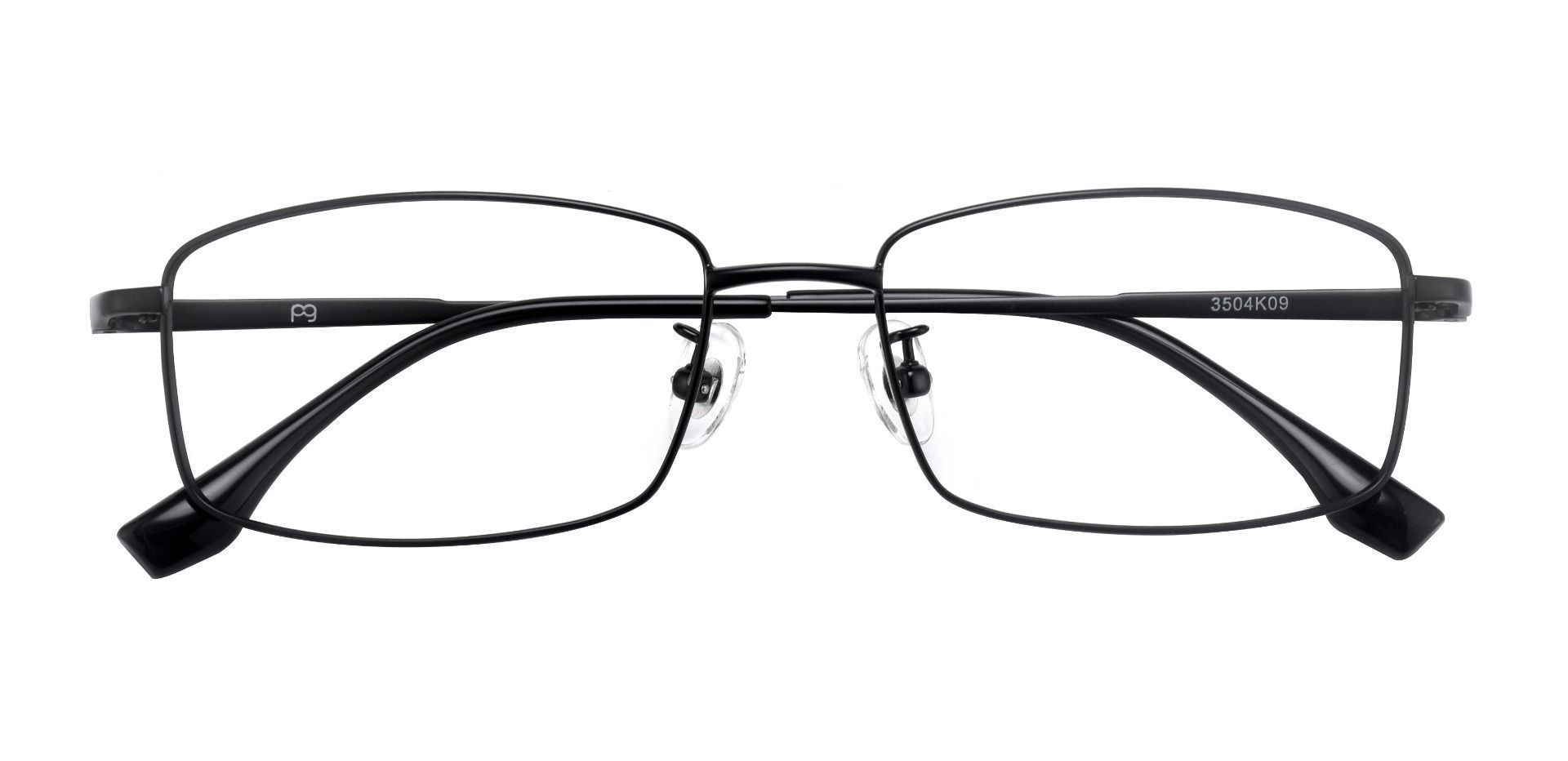 Hawkins Rectangle Prescription Glasses - Black