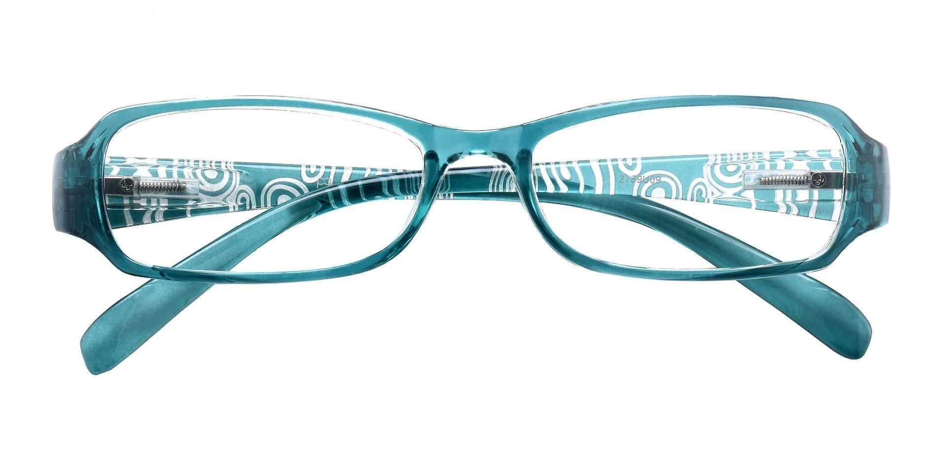 Hobart Rectangle Single Vision Glasses - Blue