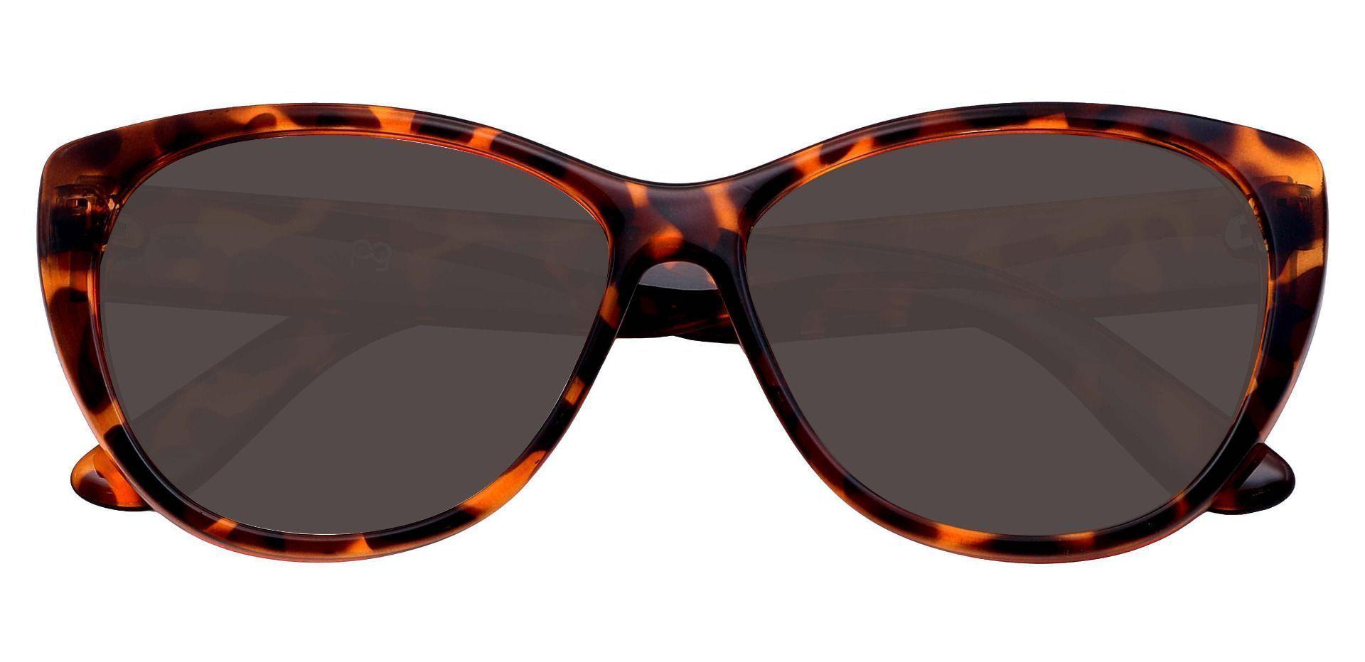 Lynn Cat-Eye Prescription Sunglasses - Tortoise Frame With Gray Lenses