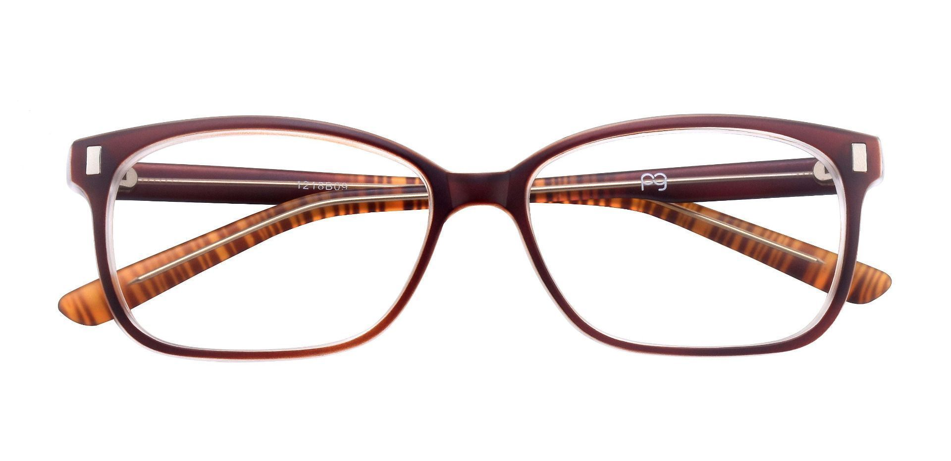 Landry Square Prescription Glasses - Brown