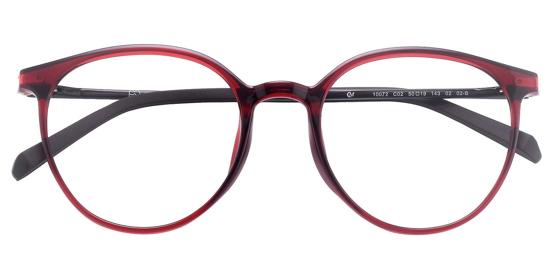 Adelaide Oval Prescription Glasses - Red