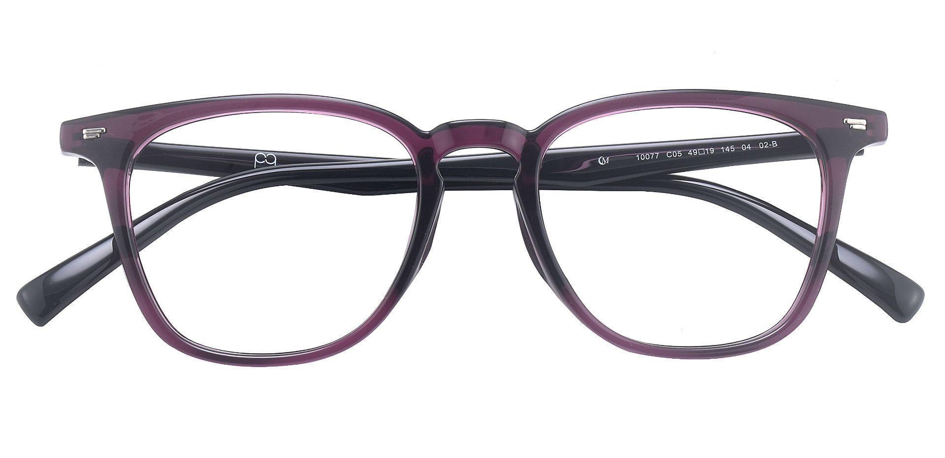 Wharton Square Prescription Glasses - Purple