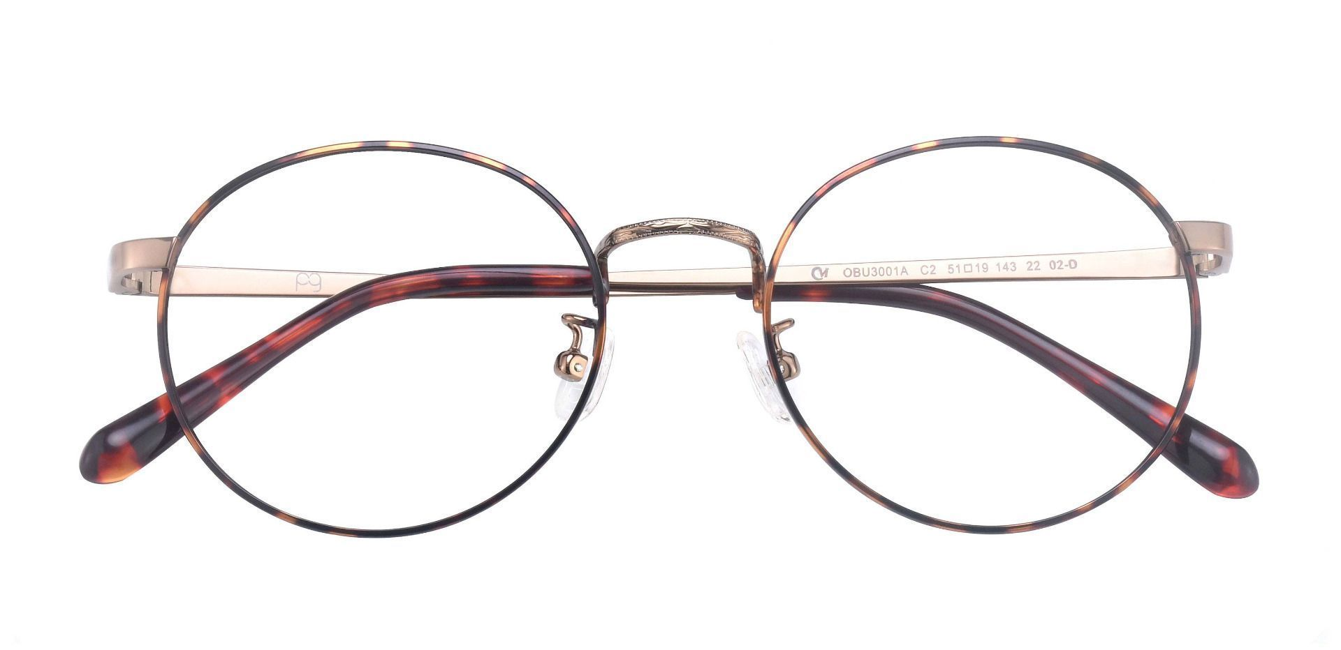 Cormac Oval Prescription Glasses - Tortoise/antique Gold
