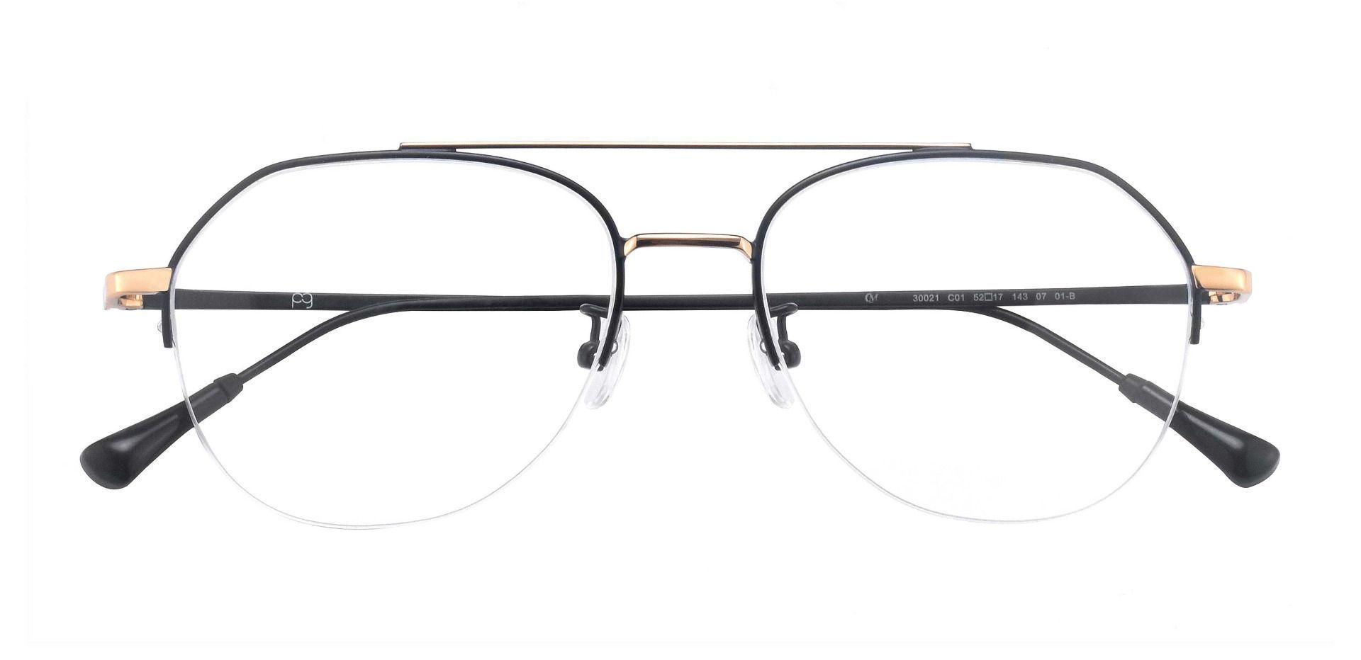 Porter Aviator Prescription Glasses -  Black/gold