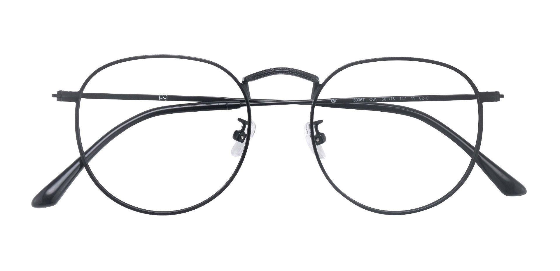 Alden Oval Prescription Glasses - Black