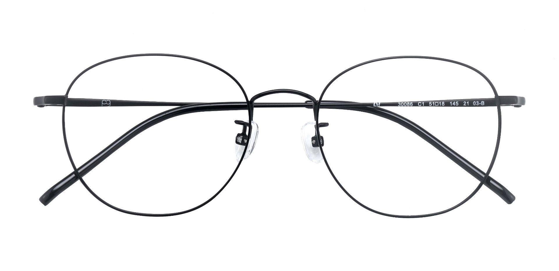 Ventura Oval Prescription Glasses - Black