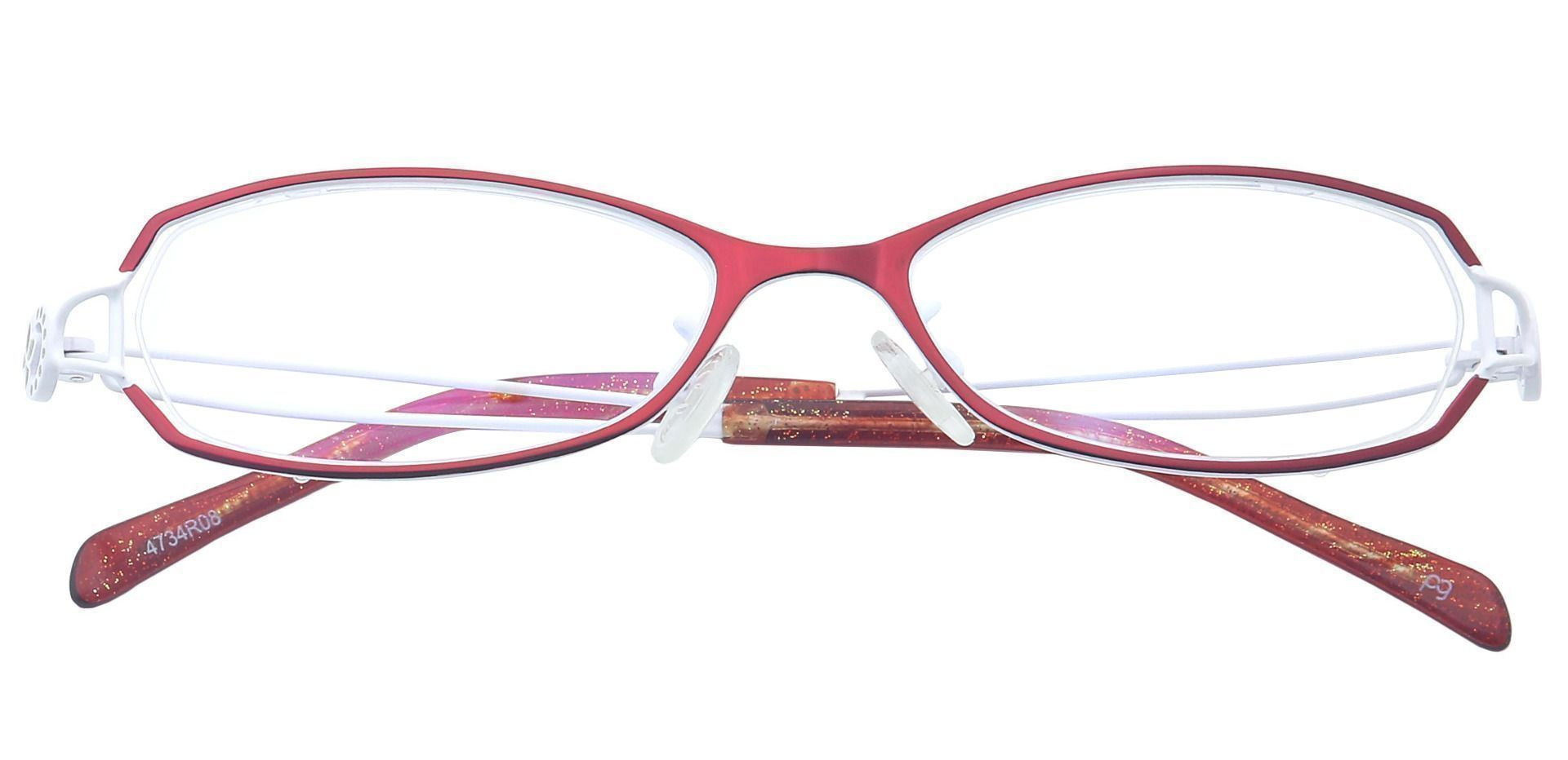 Cece Oval Blue Light Blocking Glasses - Red