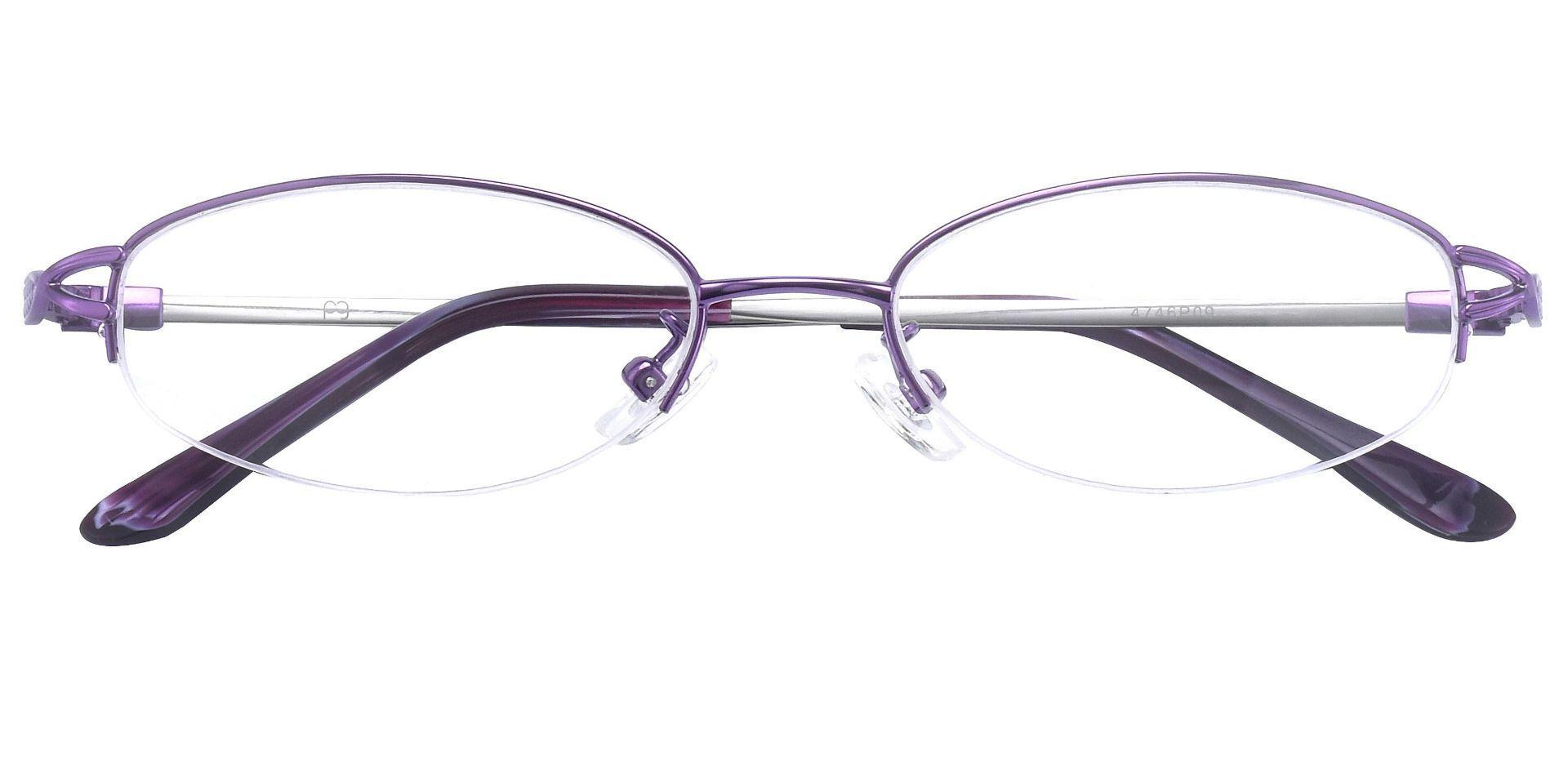 Pacific Oval Single Vision Glasses - Purple