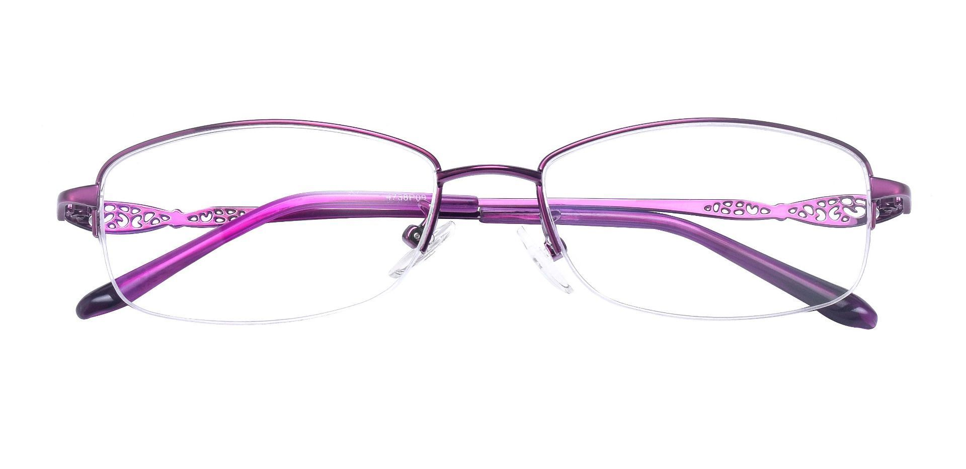 Blanche Oval Prescription Glasses - Purple