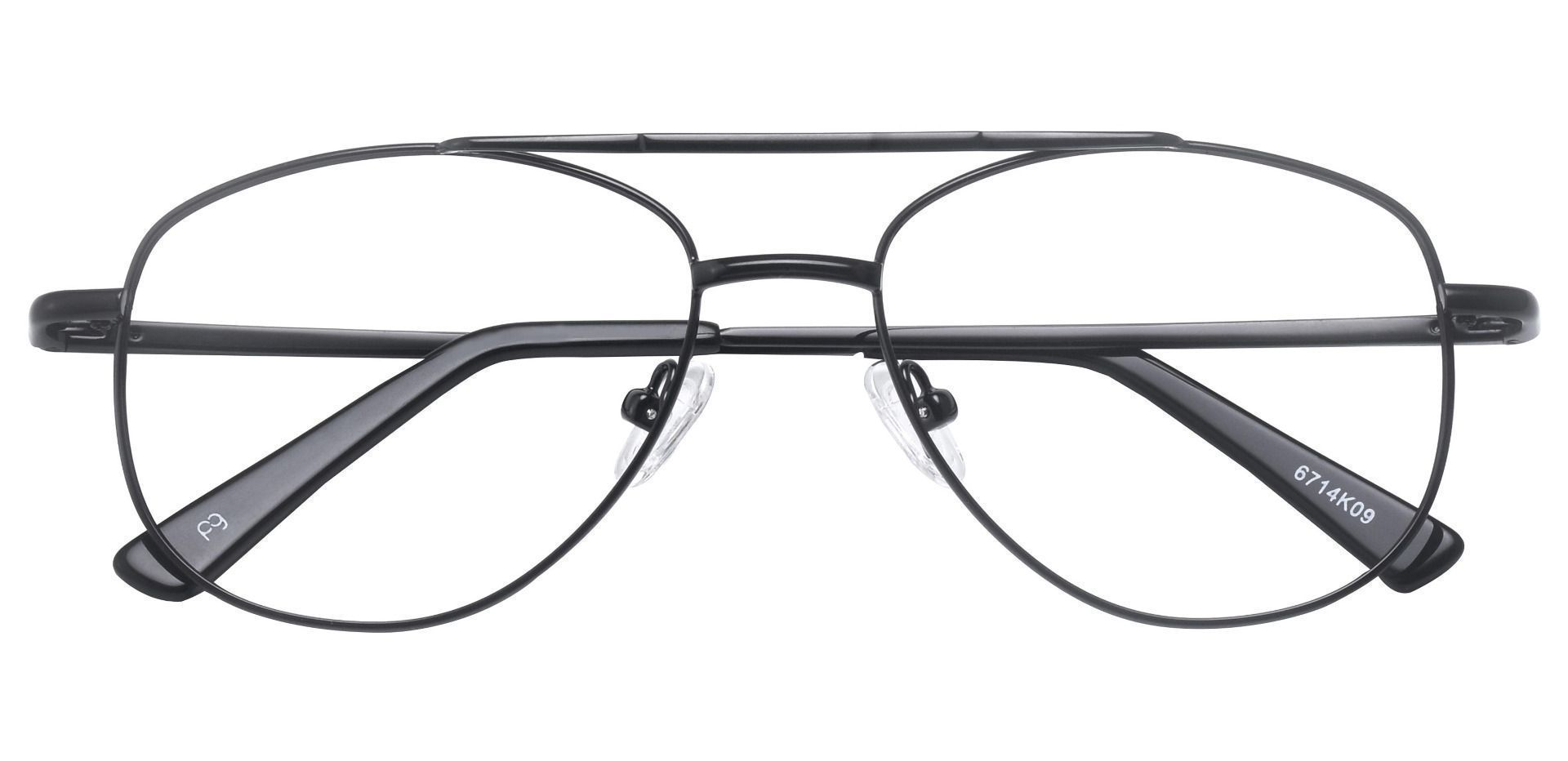 Dwight Aviator Prescription Glasses - Black
