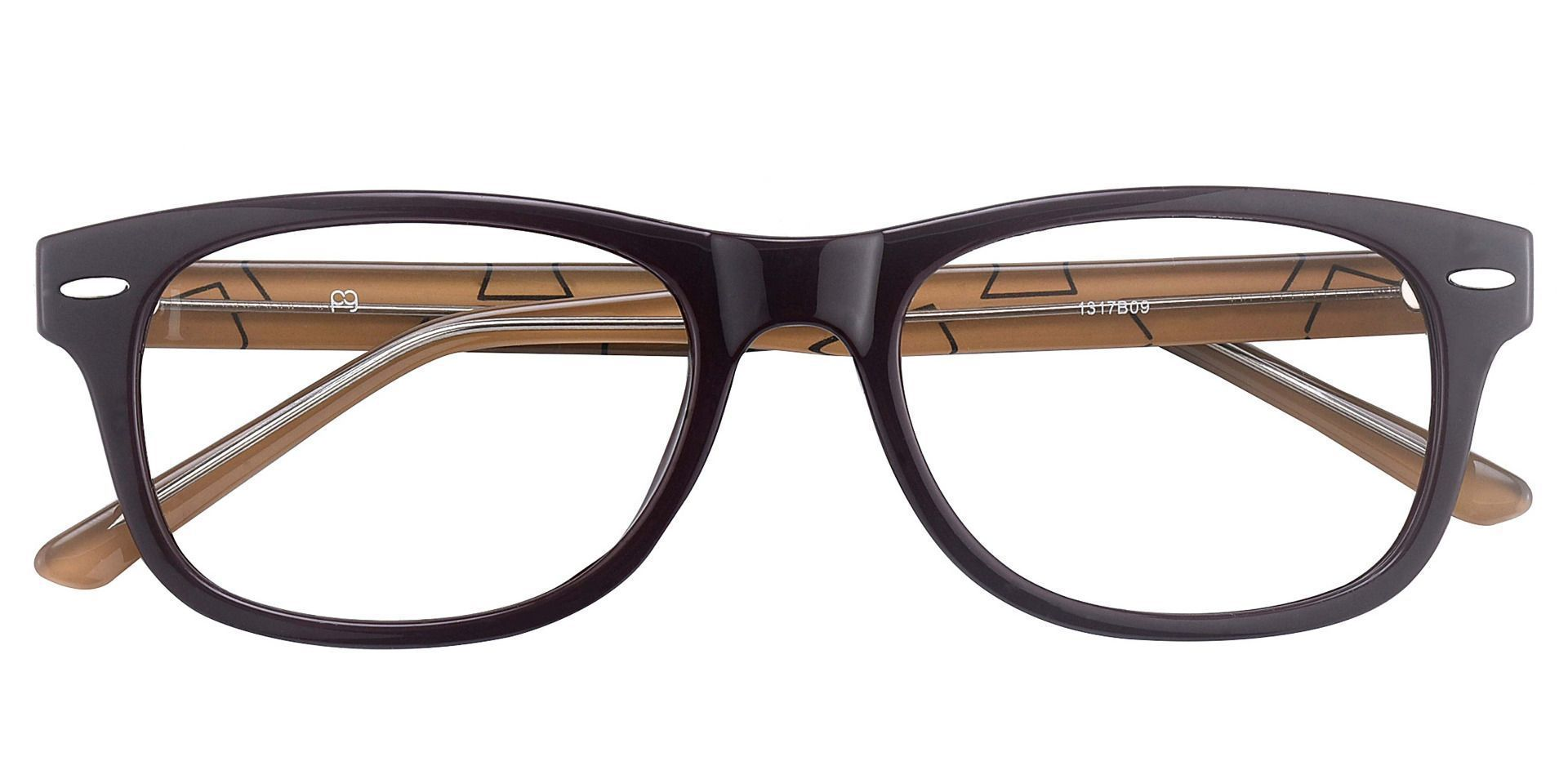 Milton Classic Square Lined Bifocal Glasses - The Frame Is Black And Brown