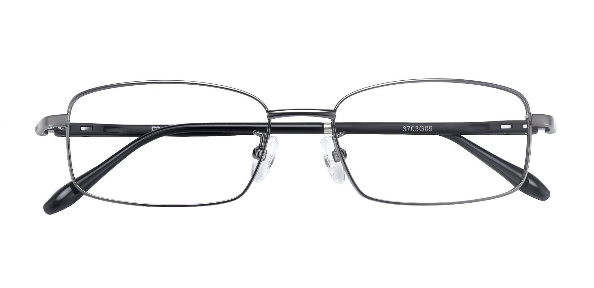 Press Rectangle Prescription Glasses - Gunmetal
