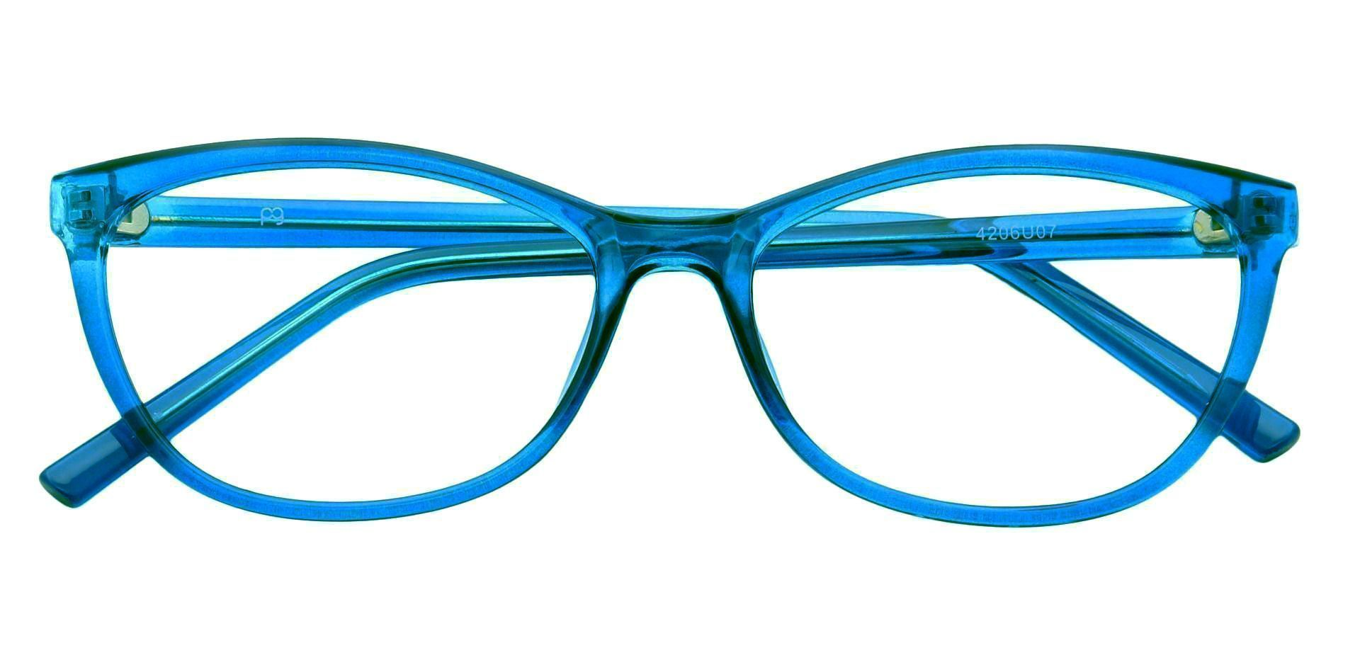 Sally Oval Progressive Glasses - Blue