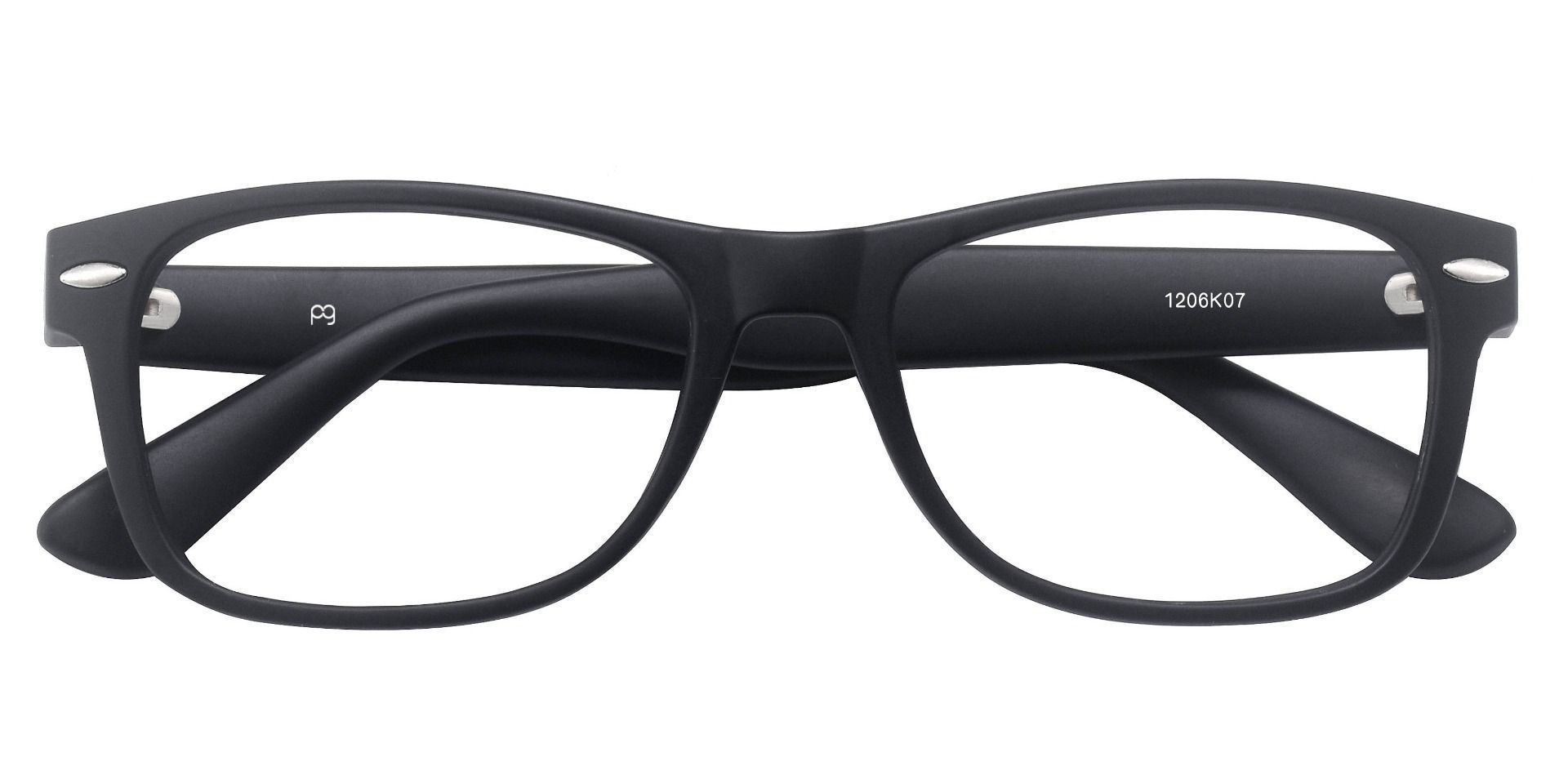 Kent Rectangle Non-Rx Glasses - Black