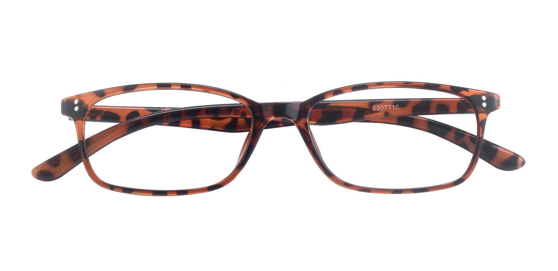 Baskin Rectangle Prescription Glasses - Tortoise