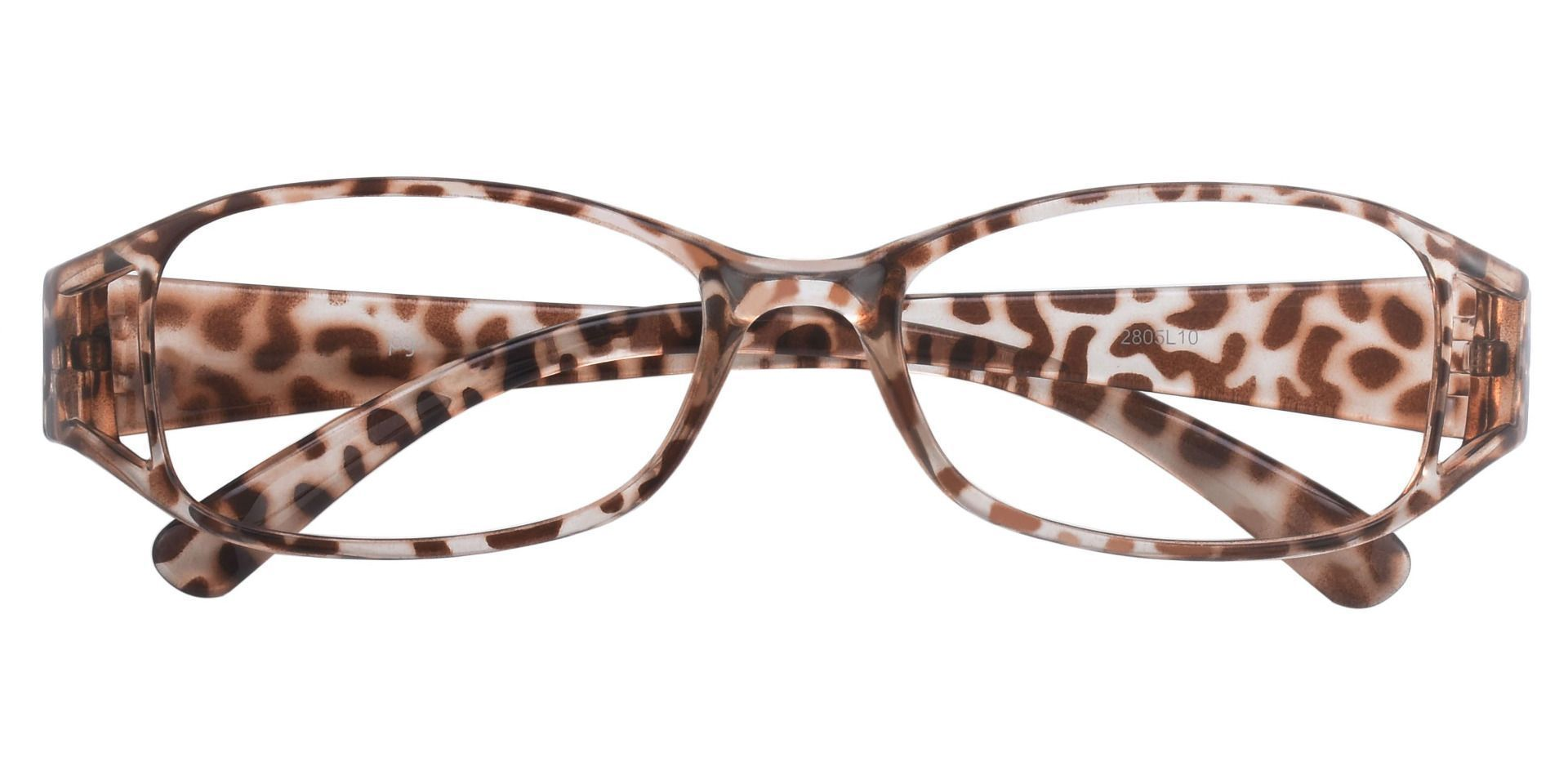 Libra Rectangle Prescription Glasses - Leopard