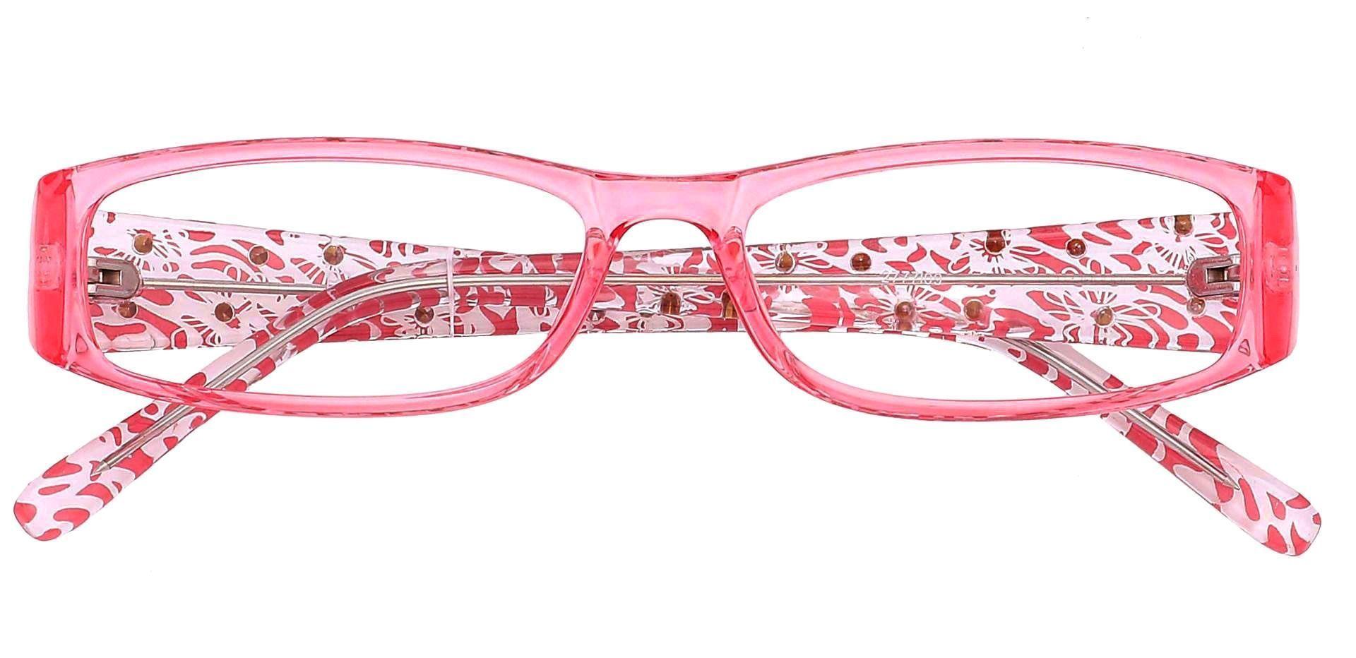 Camille Rectangle Prescription Glasses - Pink