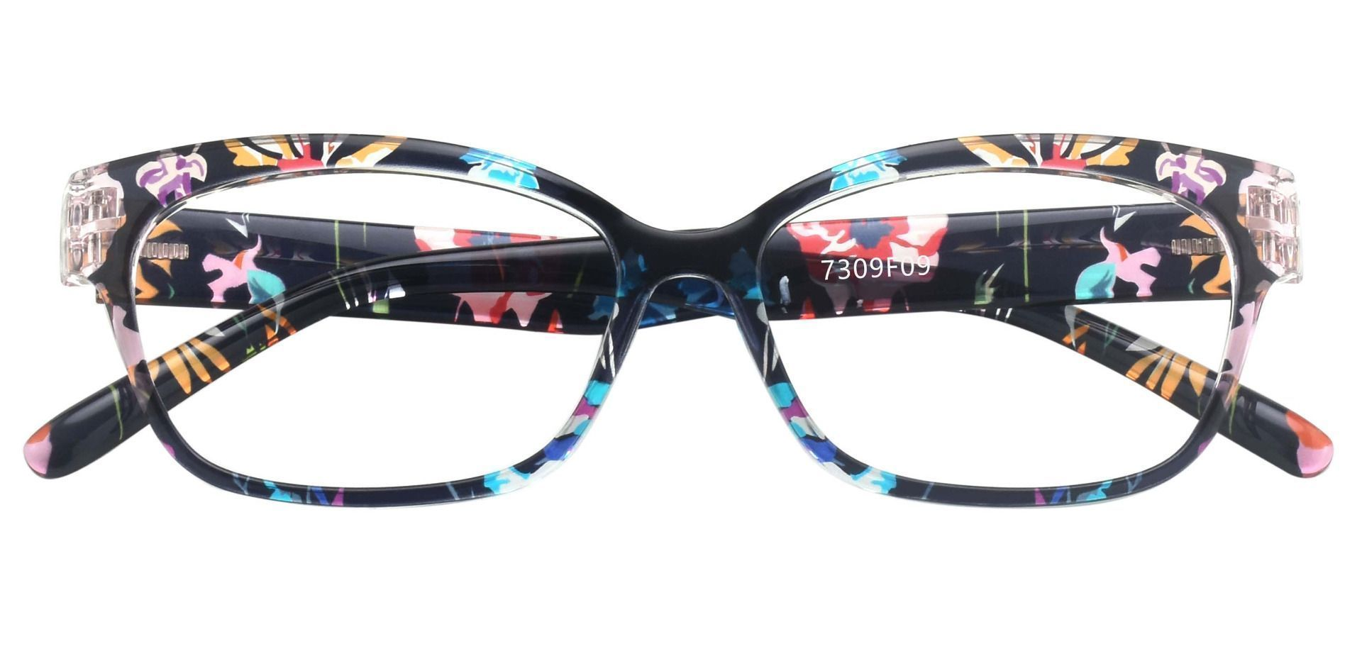 Adele Cat-Eye Prescription Glasses - Floral