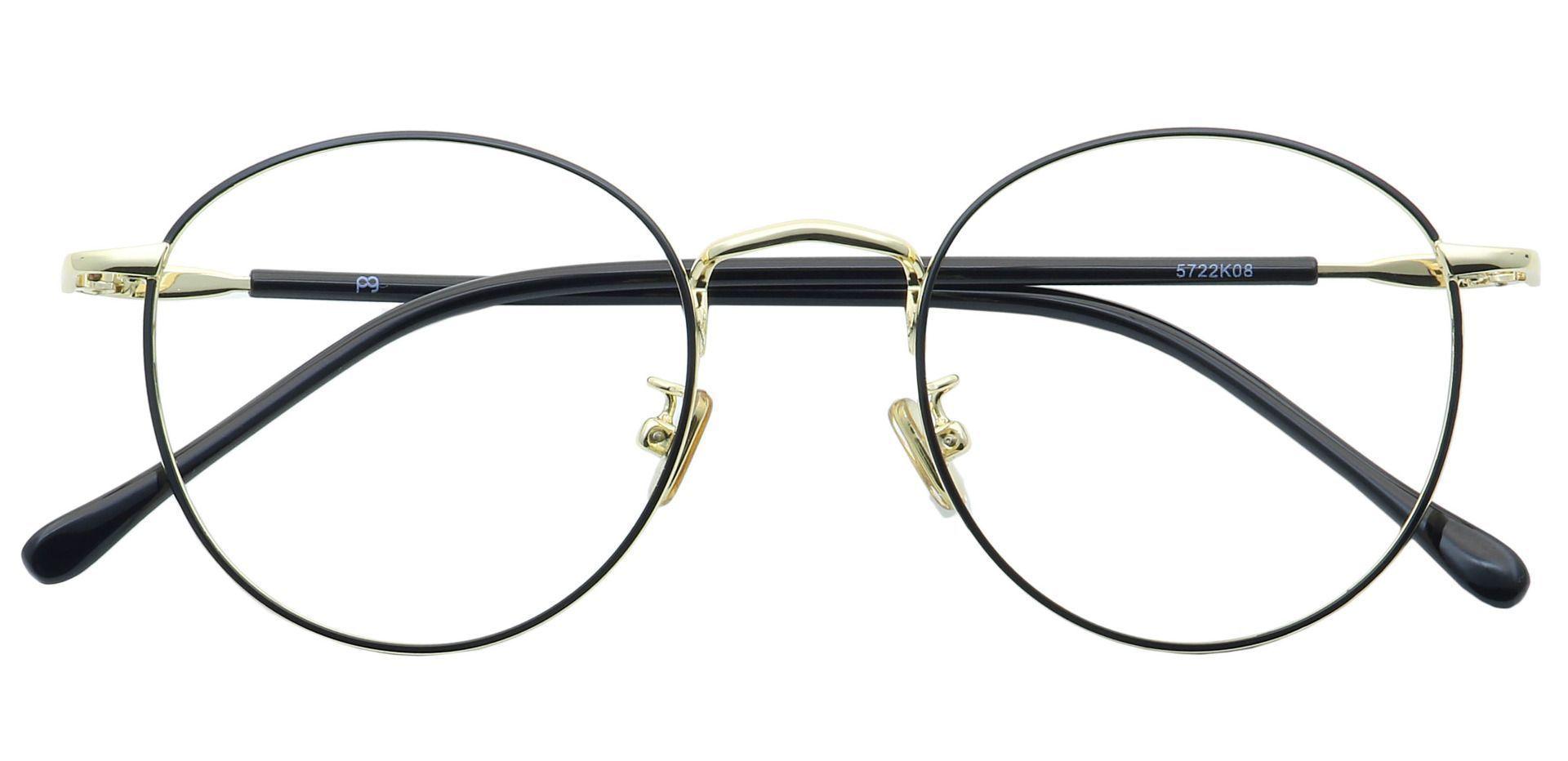 Metro Round Prescription Glasses - Black