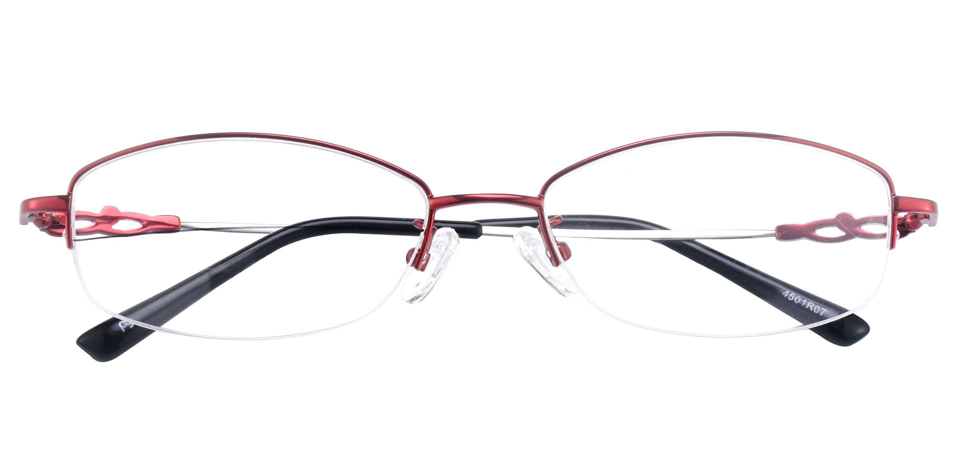 Meadowsweet Oval Lined Bifocal Glasses - Red