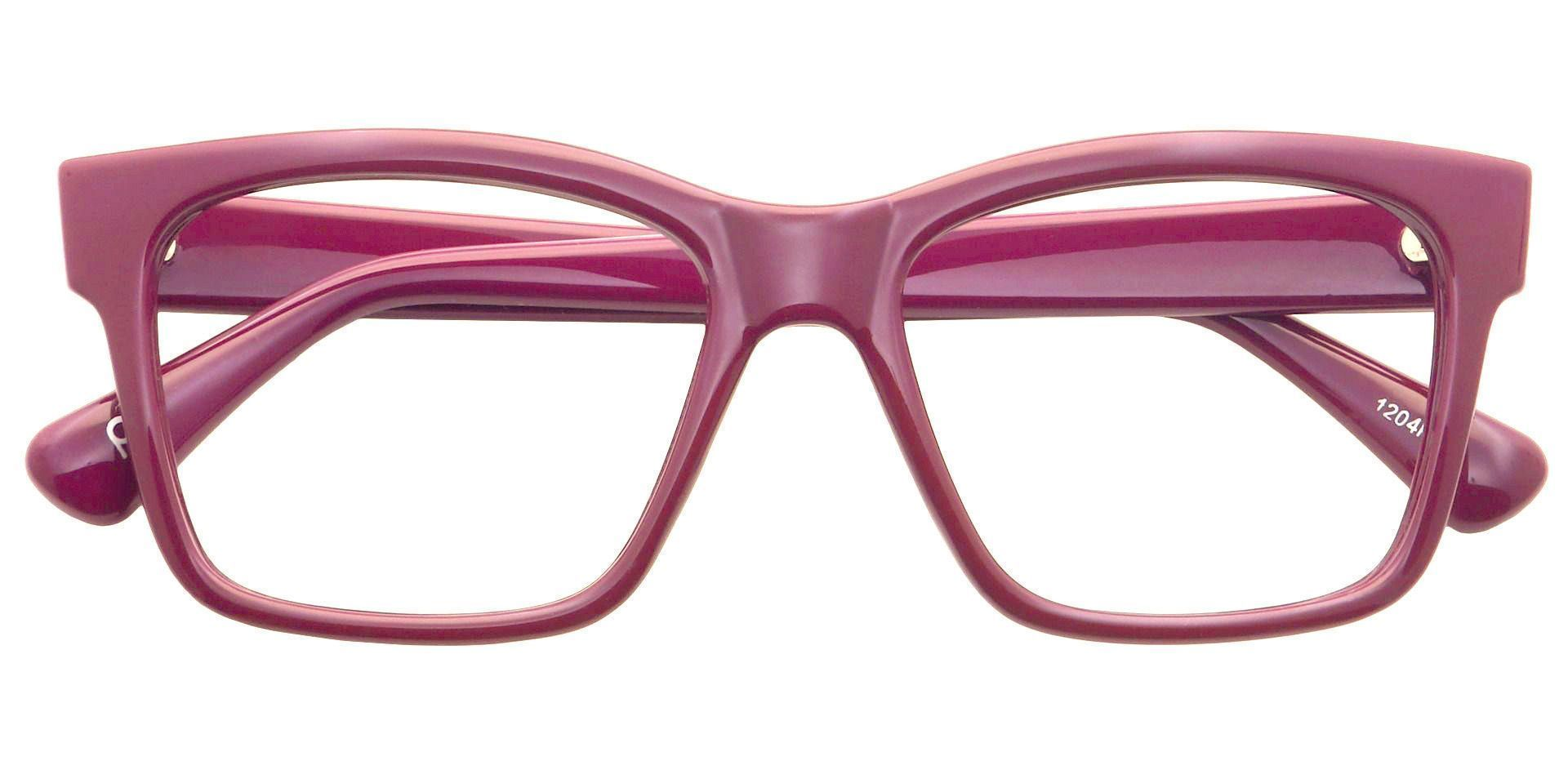 Brinley Rectangle Non-Rx Glasses - Purple