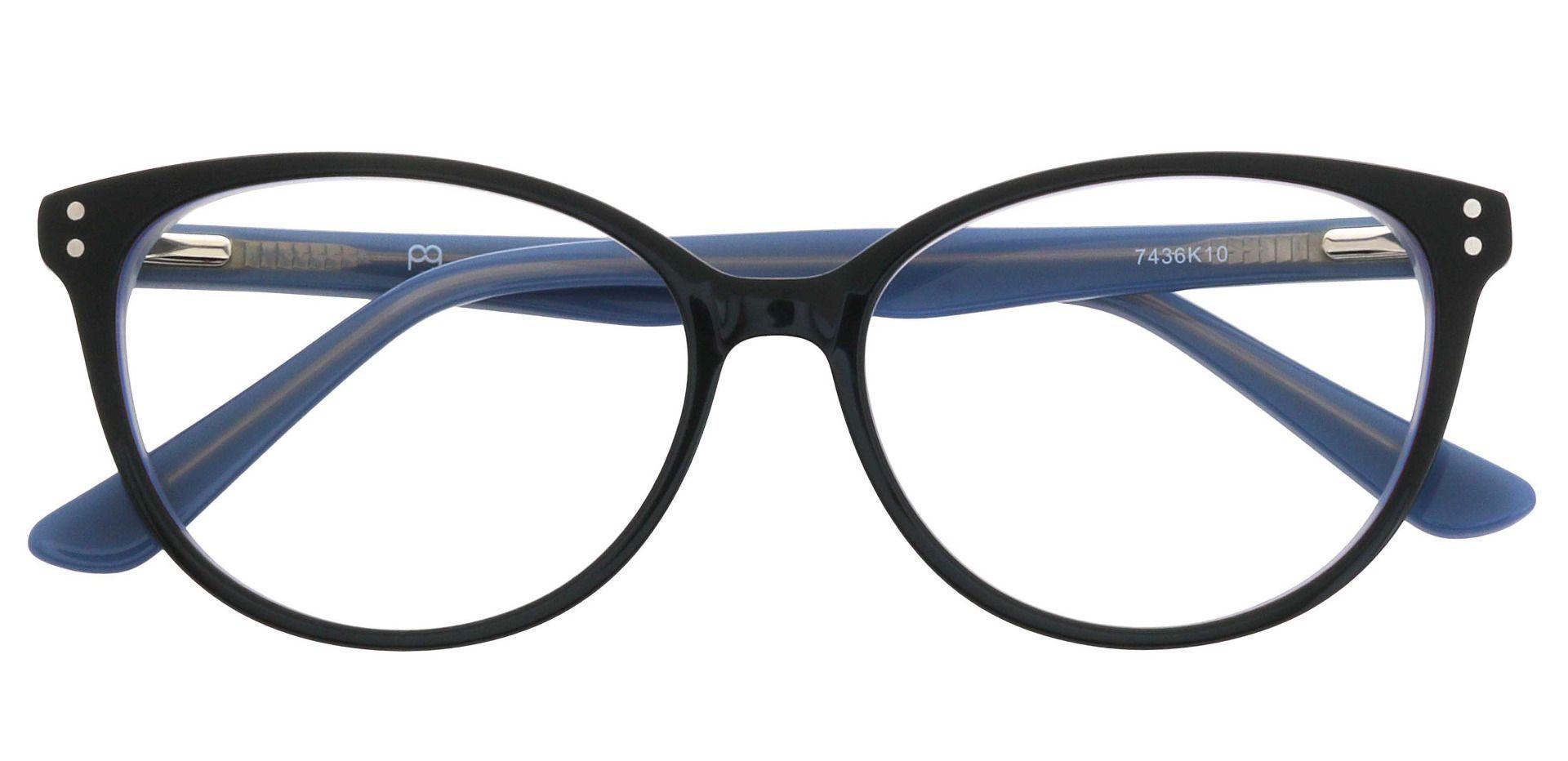 Valentina Cat Eye Prescription Glasses - Black