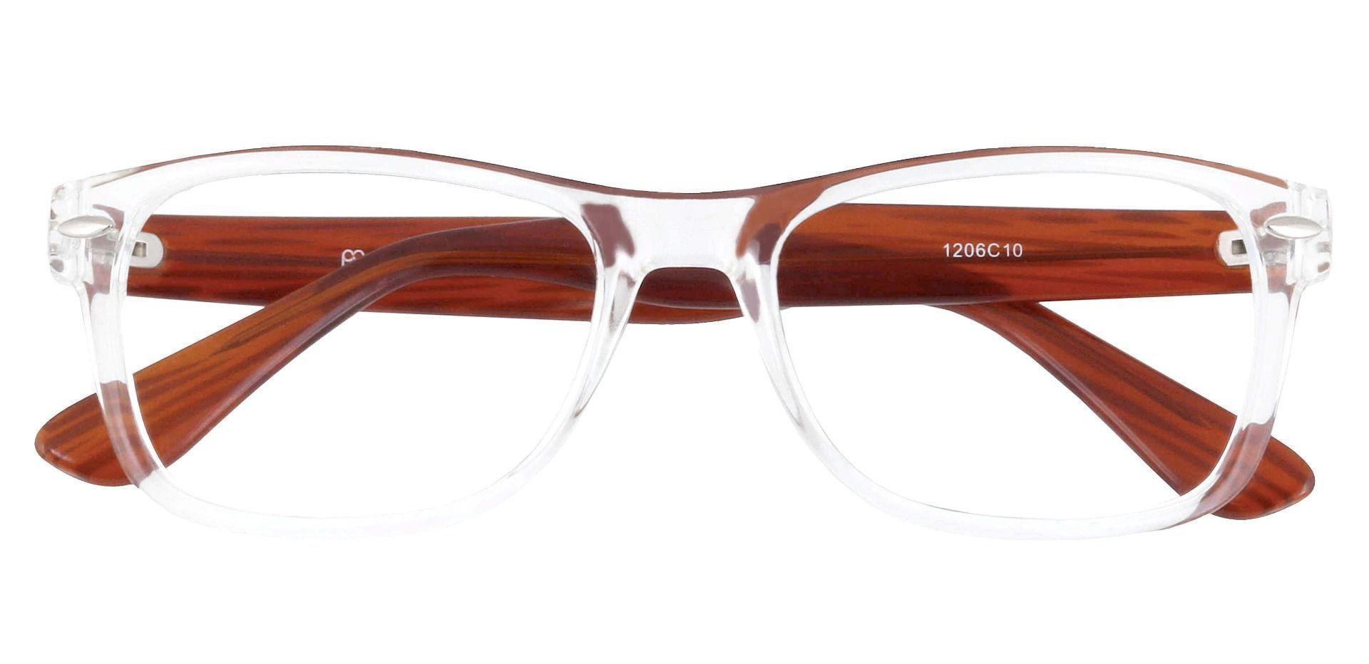 Kent Rectangle Eyeglasses Frame - Clear