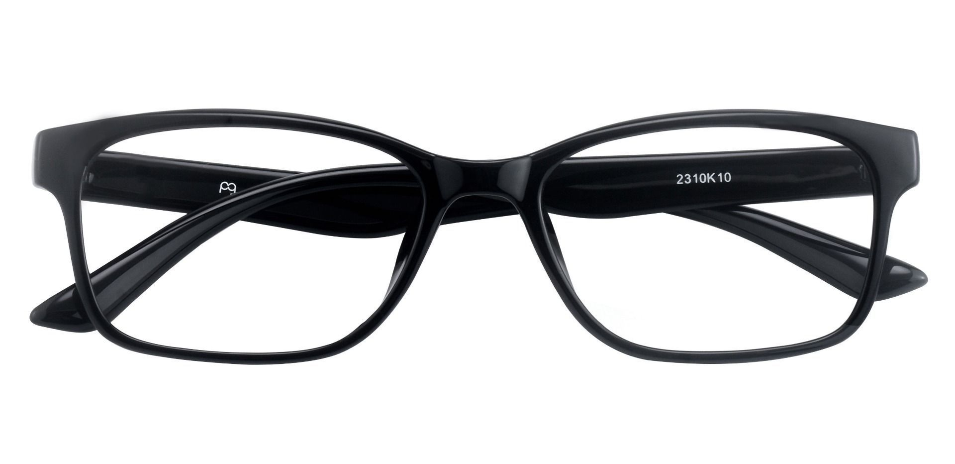 Osmond Rectangle Prescription Glasses - Black