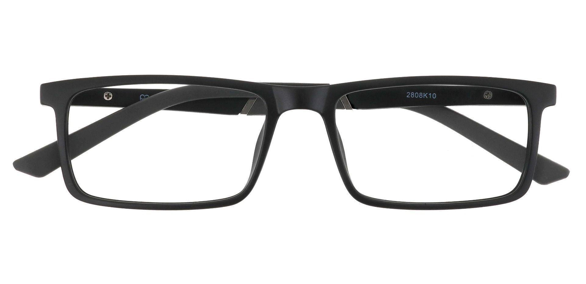Ronan Rectangle Prescription Glasses - Matte Black