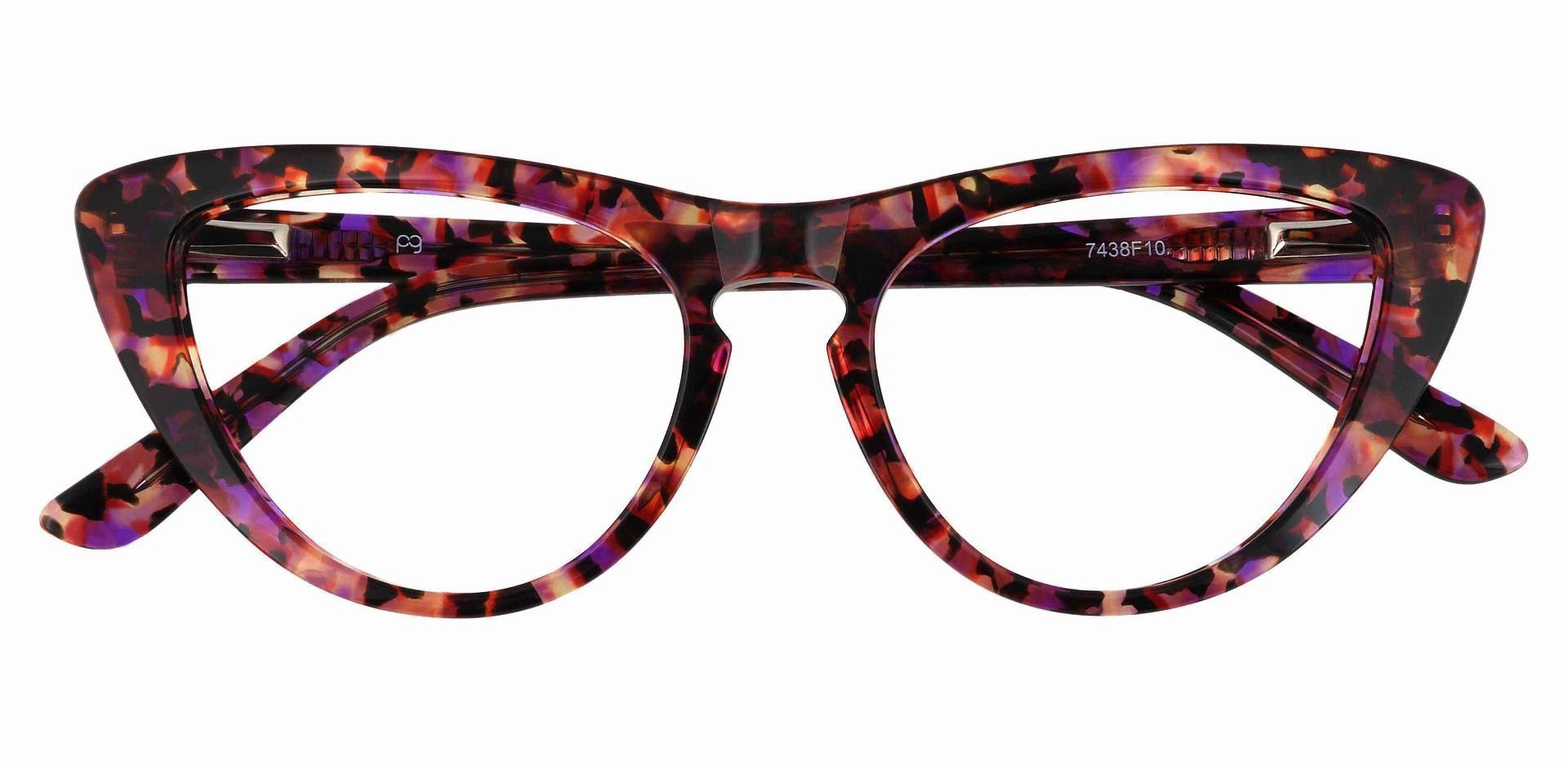 Ari Cat Eye Prescription Glasses - Purple Havana